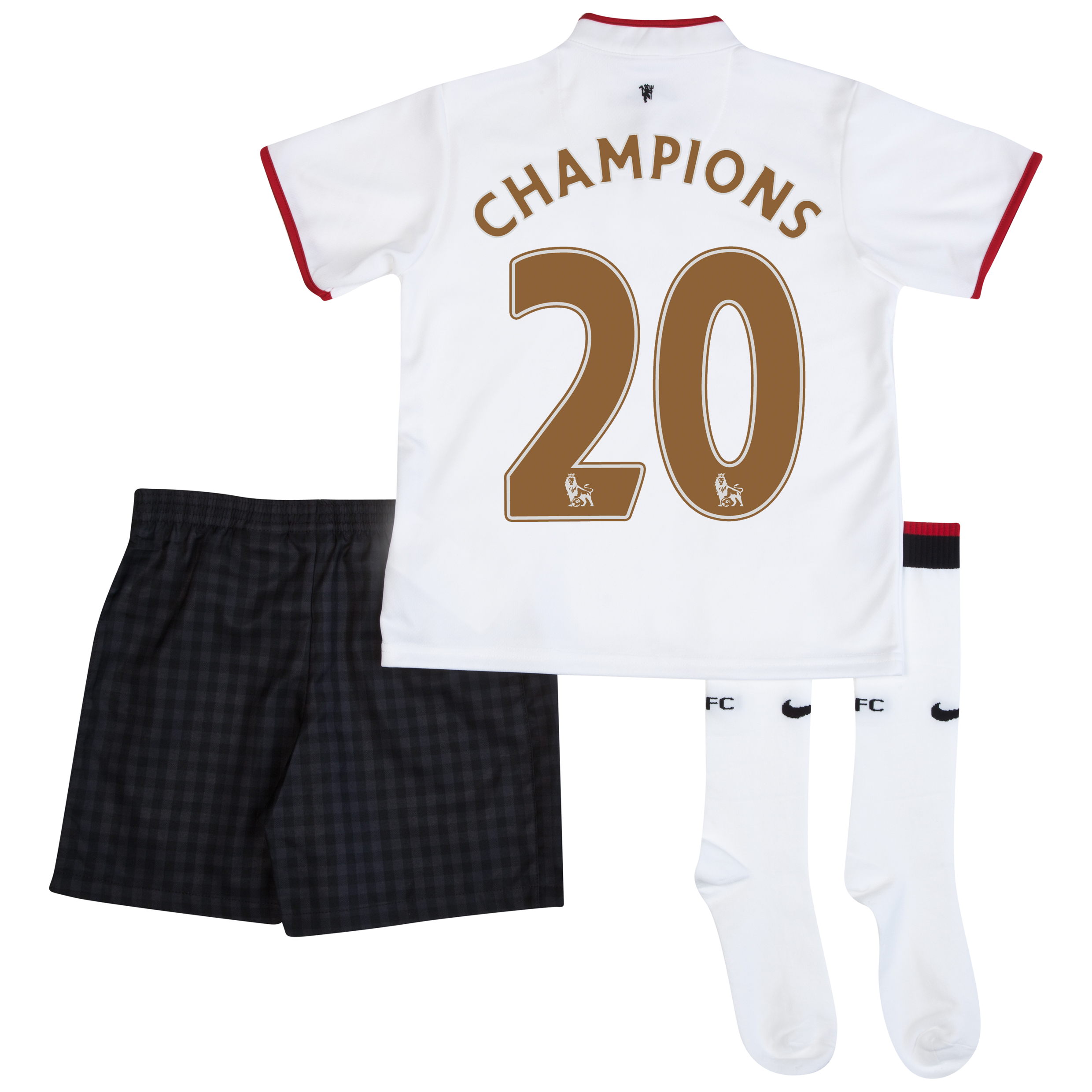 Manchester United Away Kit 2012/13 - Little Boys with Champions 20 printing