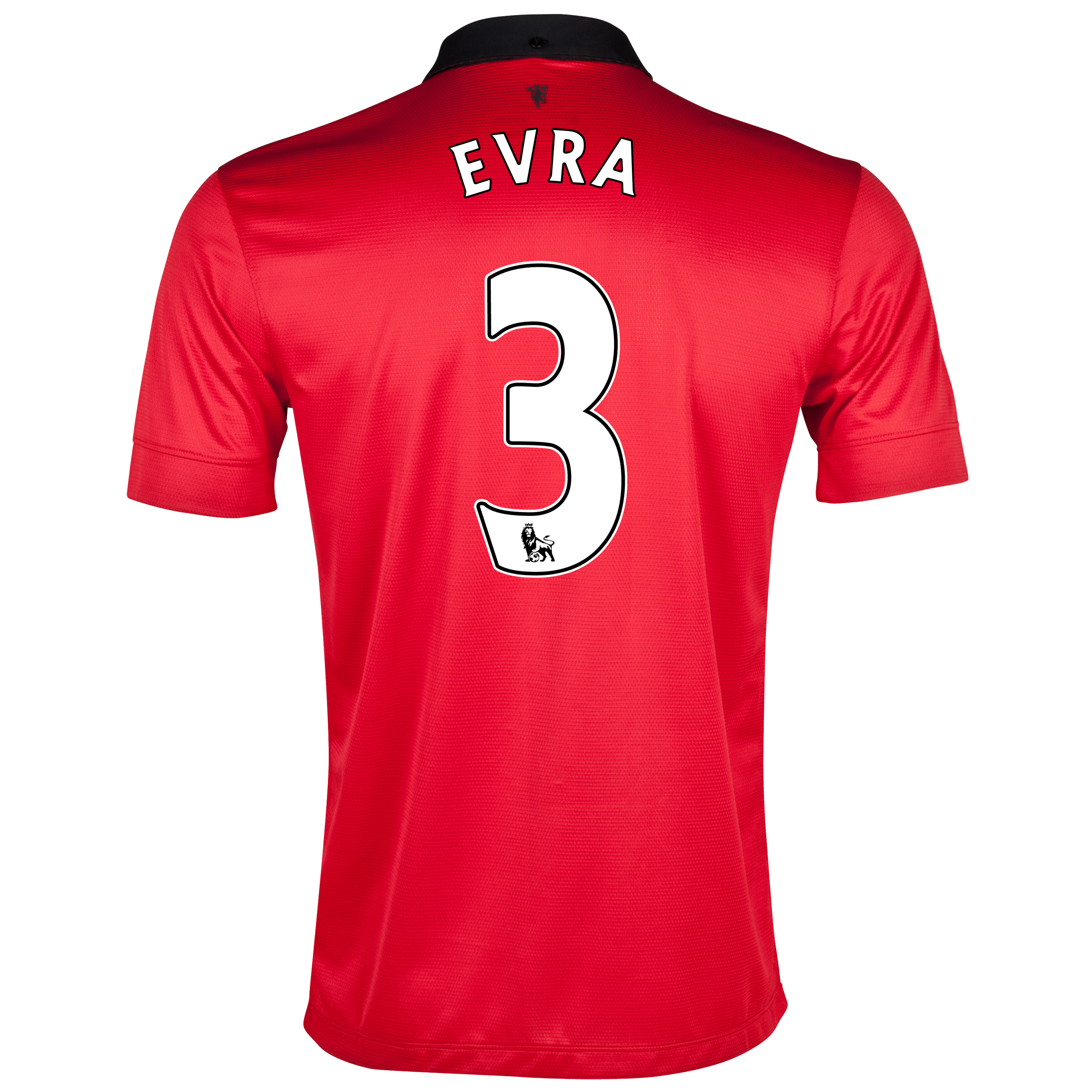 Manchester United Home Shirt 2013/14 with Evra 3 printing