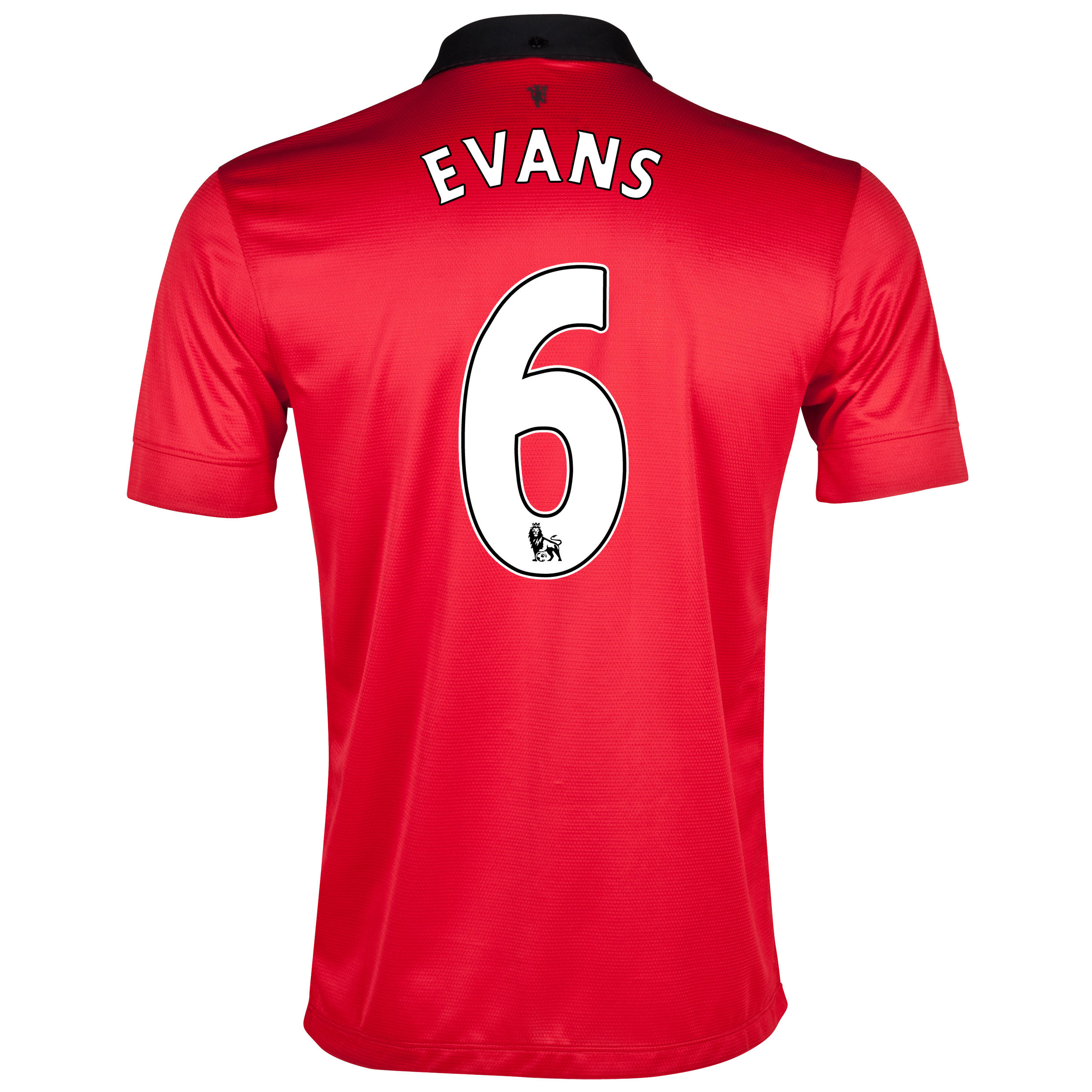 Manchester United Home Shirt 2013/14 with Evans 6 printing