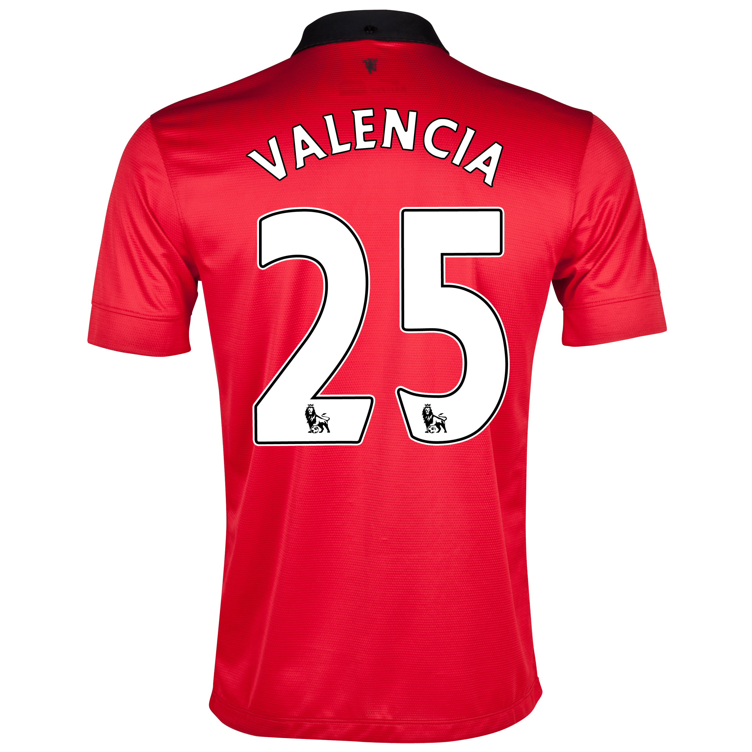 Manchester United Home Shirt 2013/14 with Valencia 25 printing