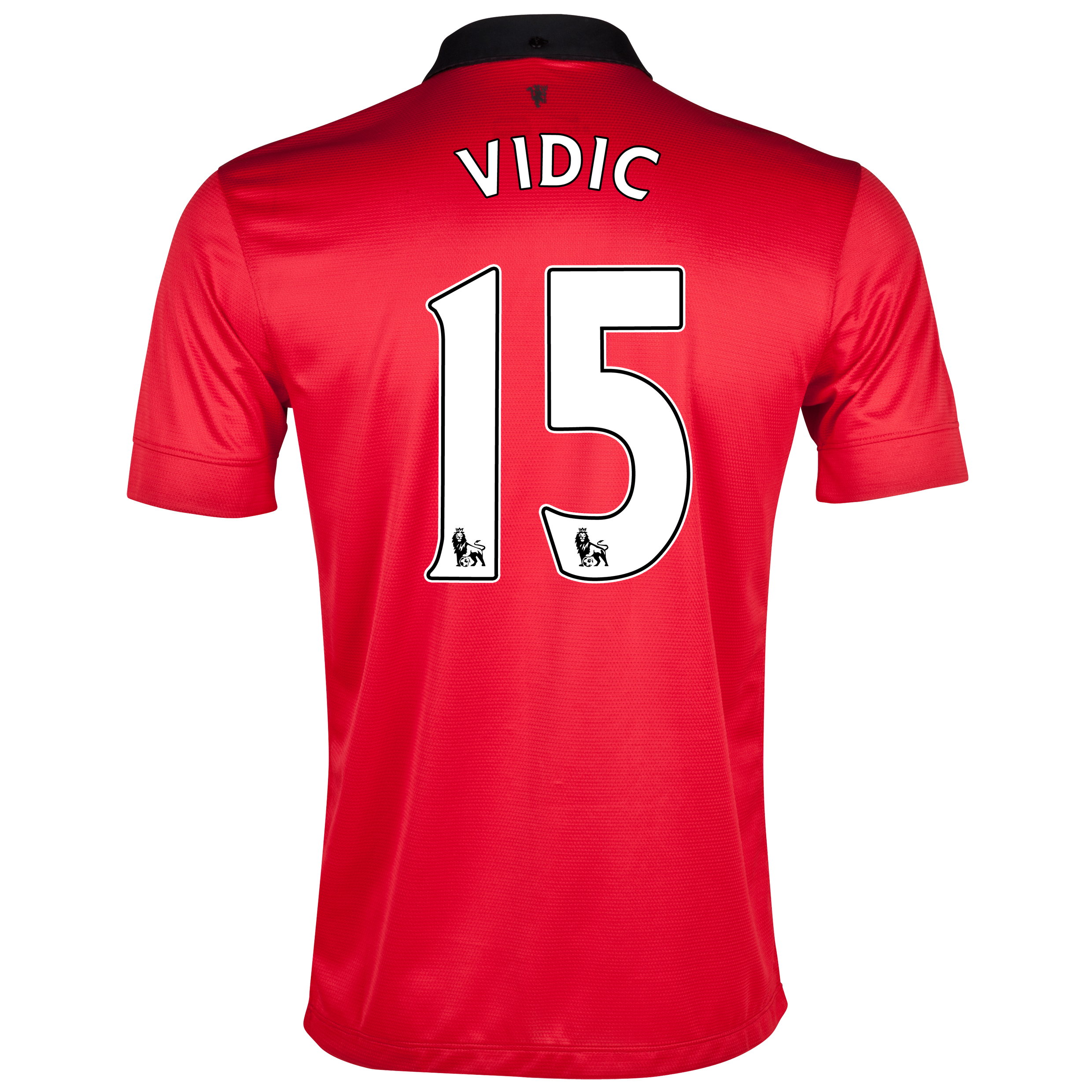 Manchester United Home Shirt 2013/14 with Vidic 15 printing