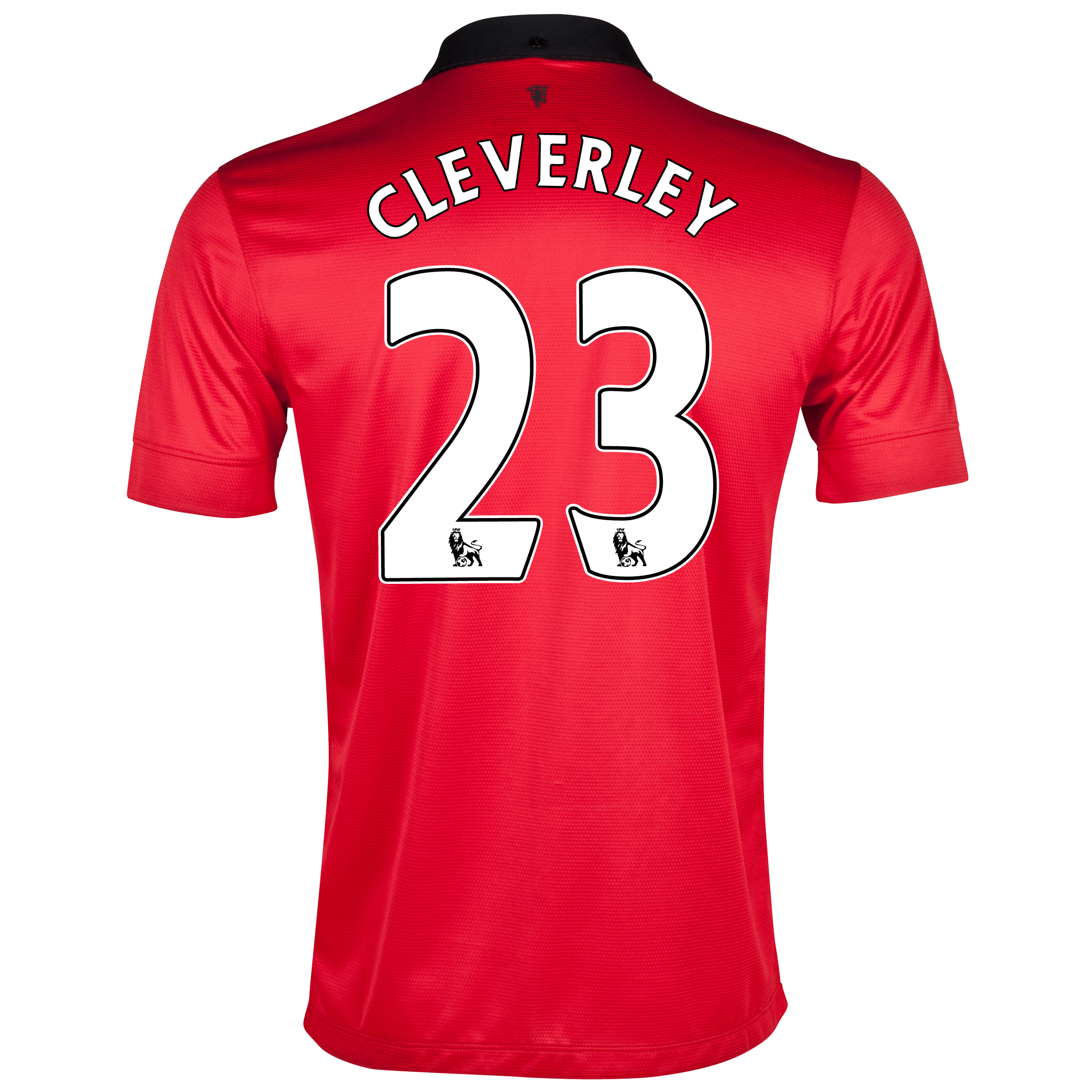 Manchester United Home Shirt 2013/14 with Cleverley 23 printing