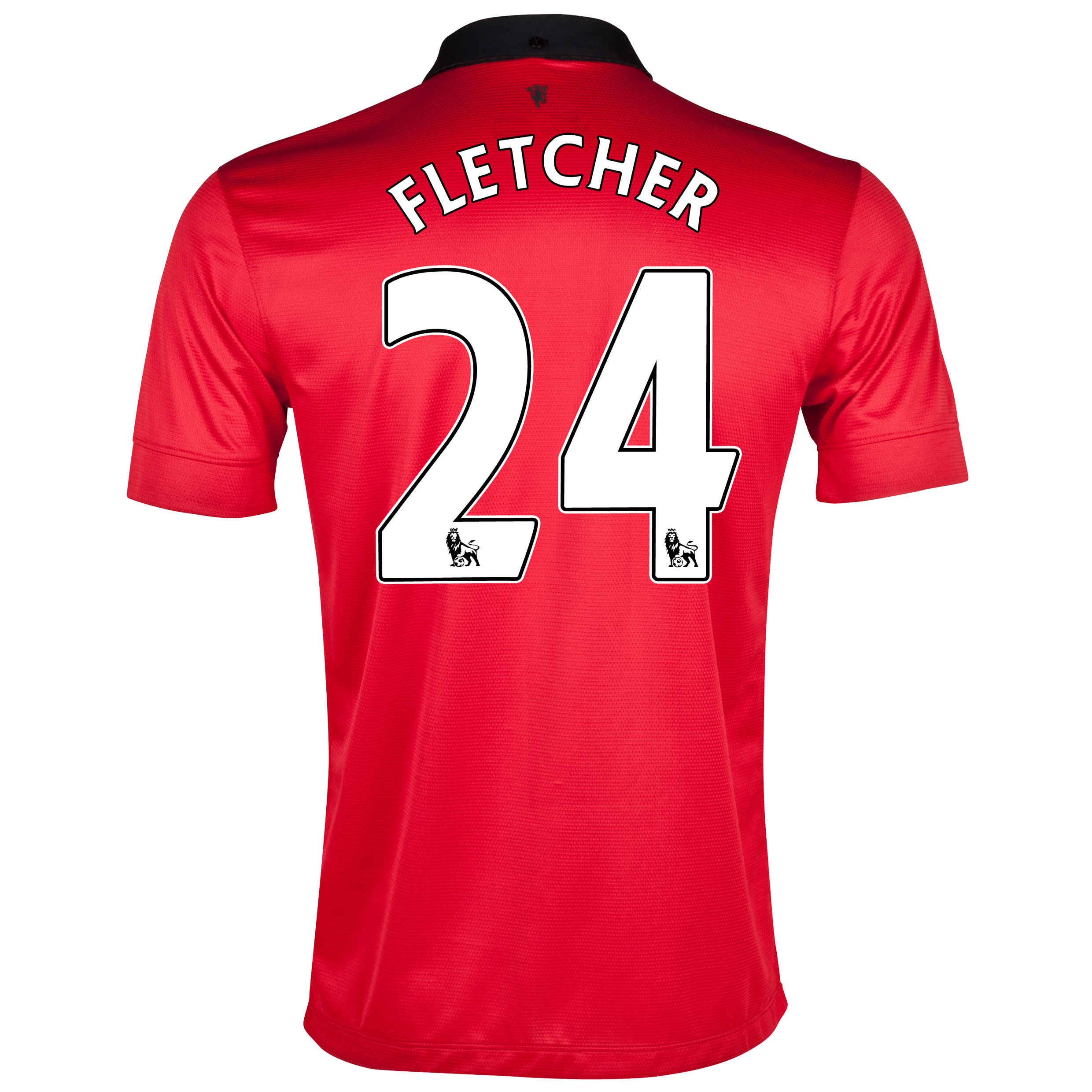 Manchester United Home Shirt 2013/14 with Fletcher 24 printing