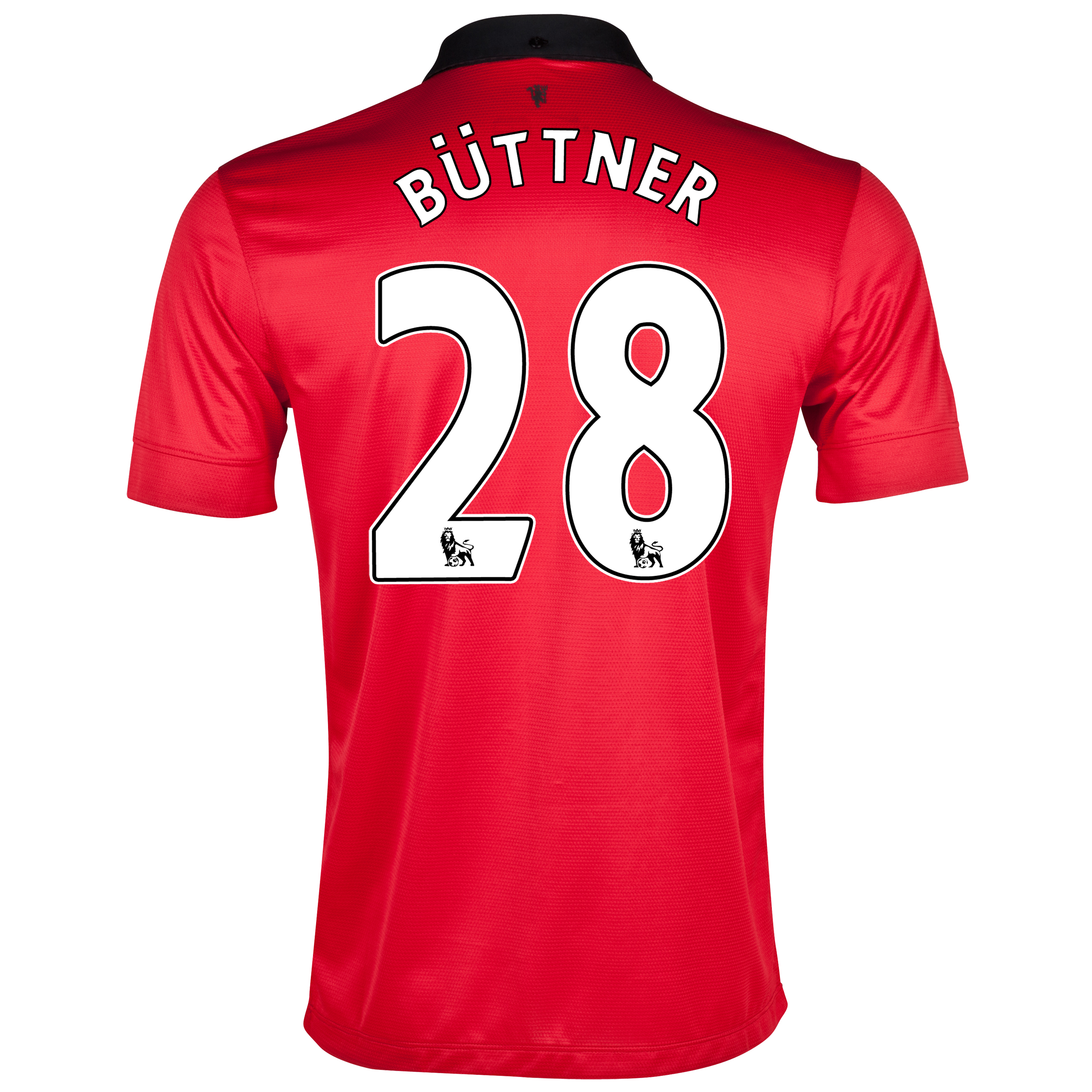 Manchester United Home Shirt 2013/14 with Büttner 28 printing