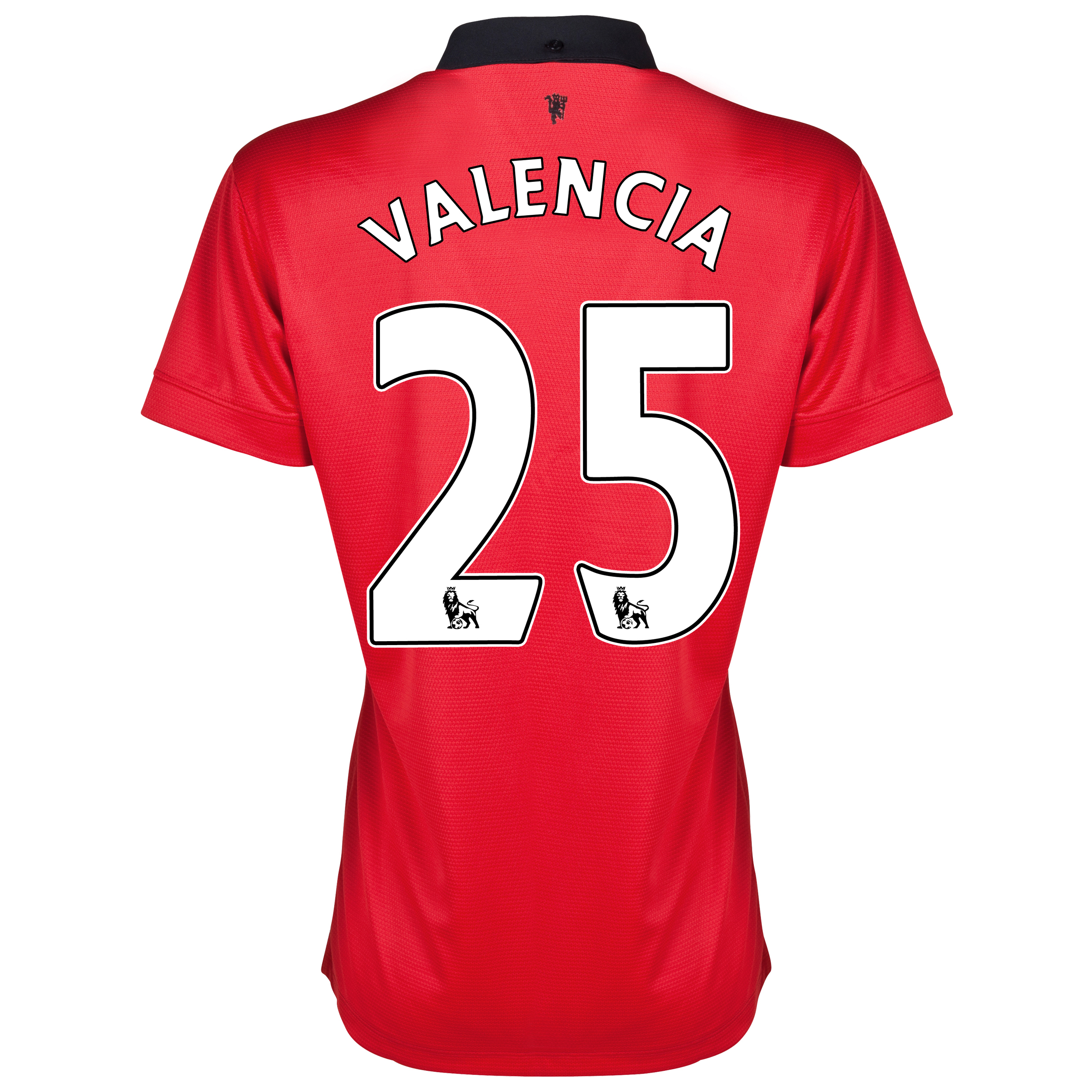 Manchester United Home Shirt 2013/14 - Womens with Valencia 7 printing