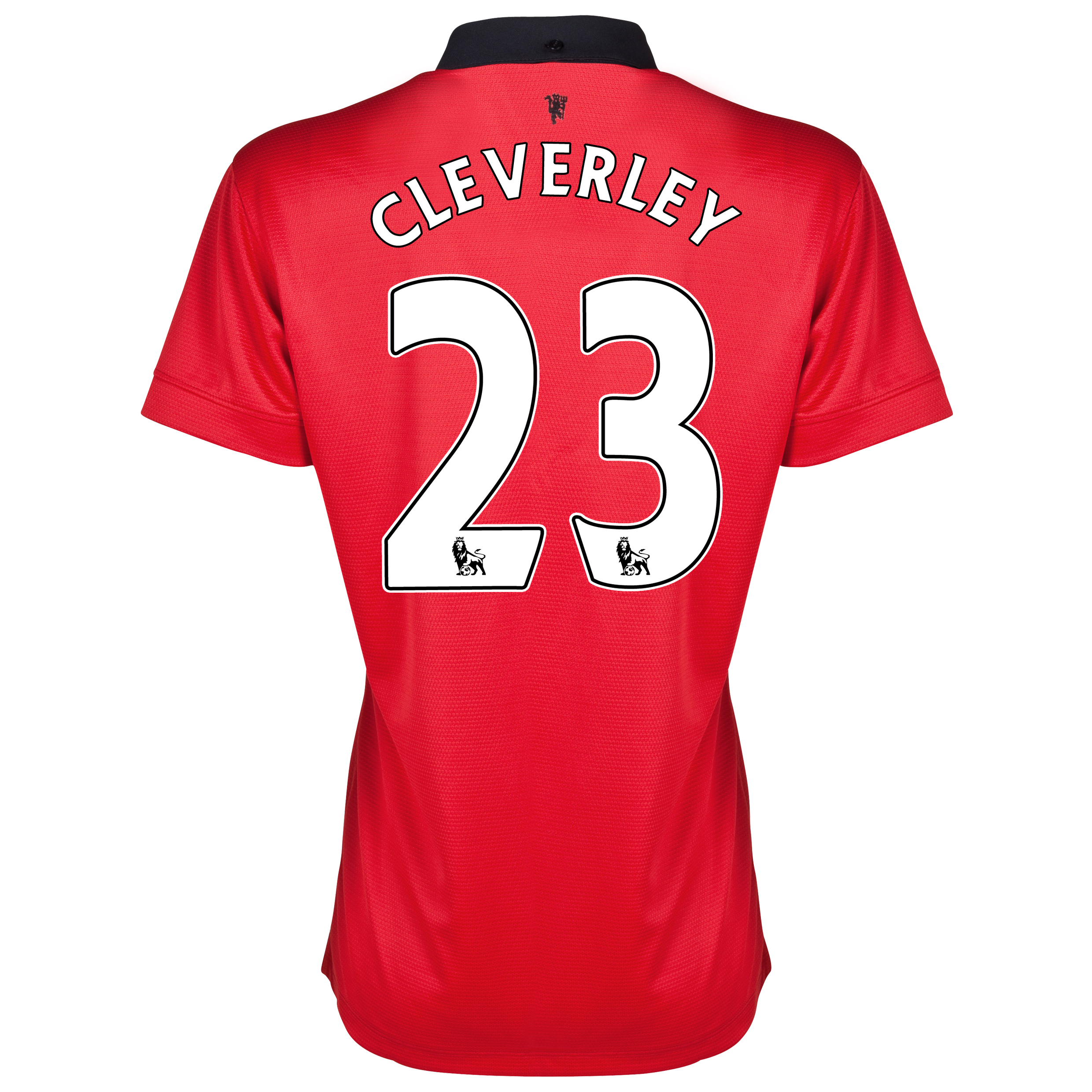 Manchester United Home Shirt 2013/14 - Womens with Cleverley 23 printing
