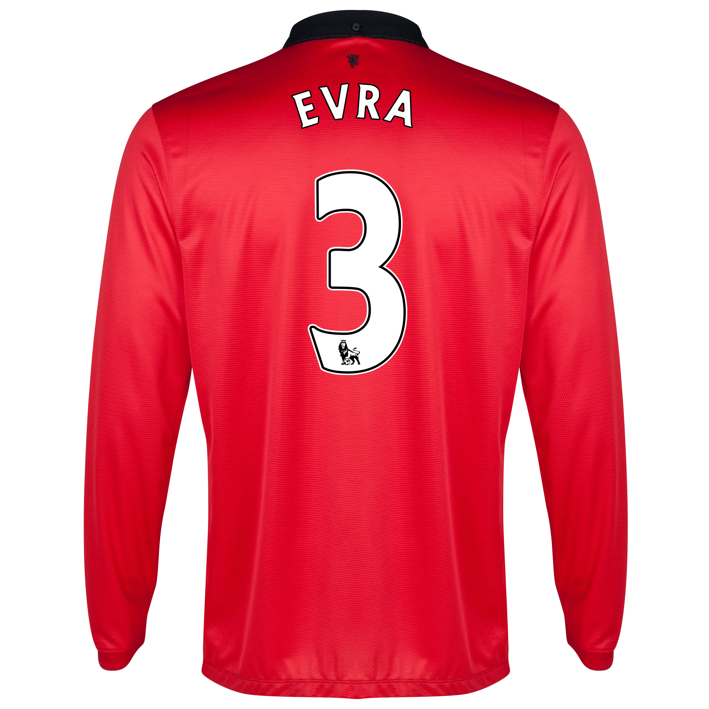 Manchester United Home Shirt 2013/14 - Long Sleeved with Evra 3 printing