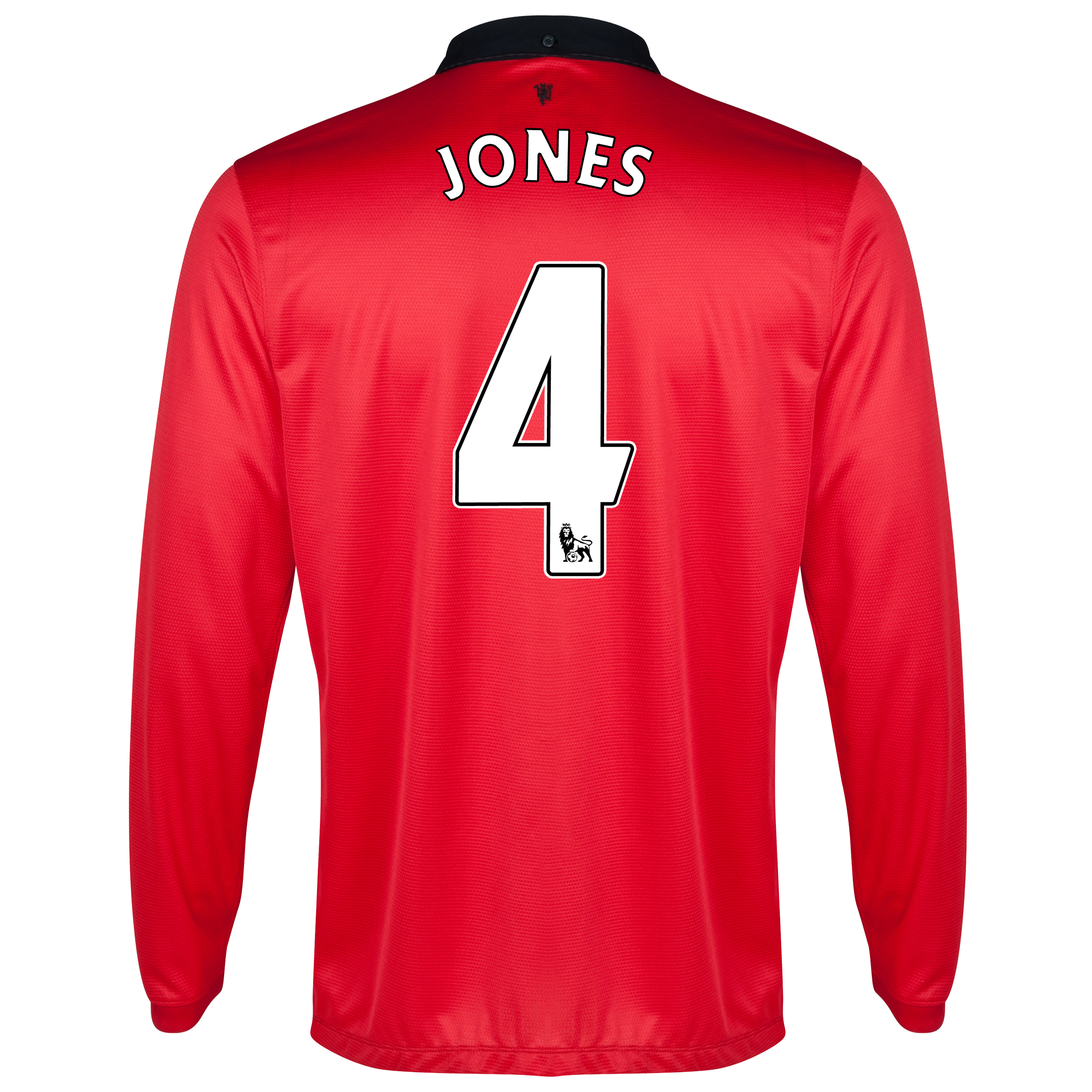 Manchester United Home Shirt 2013/14 - Long Sleeved with Jones 4 printing