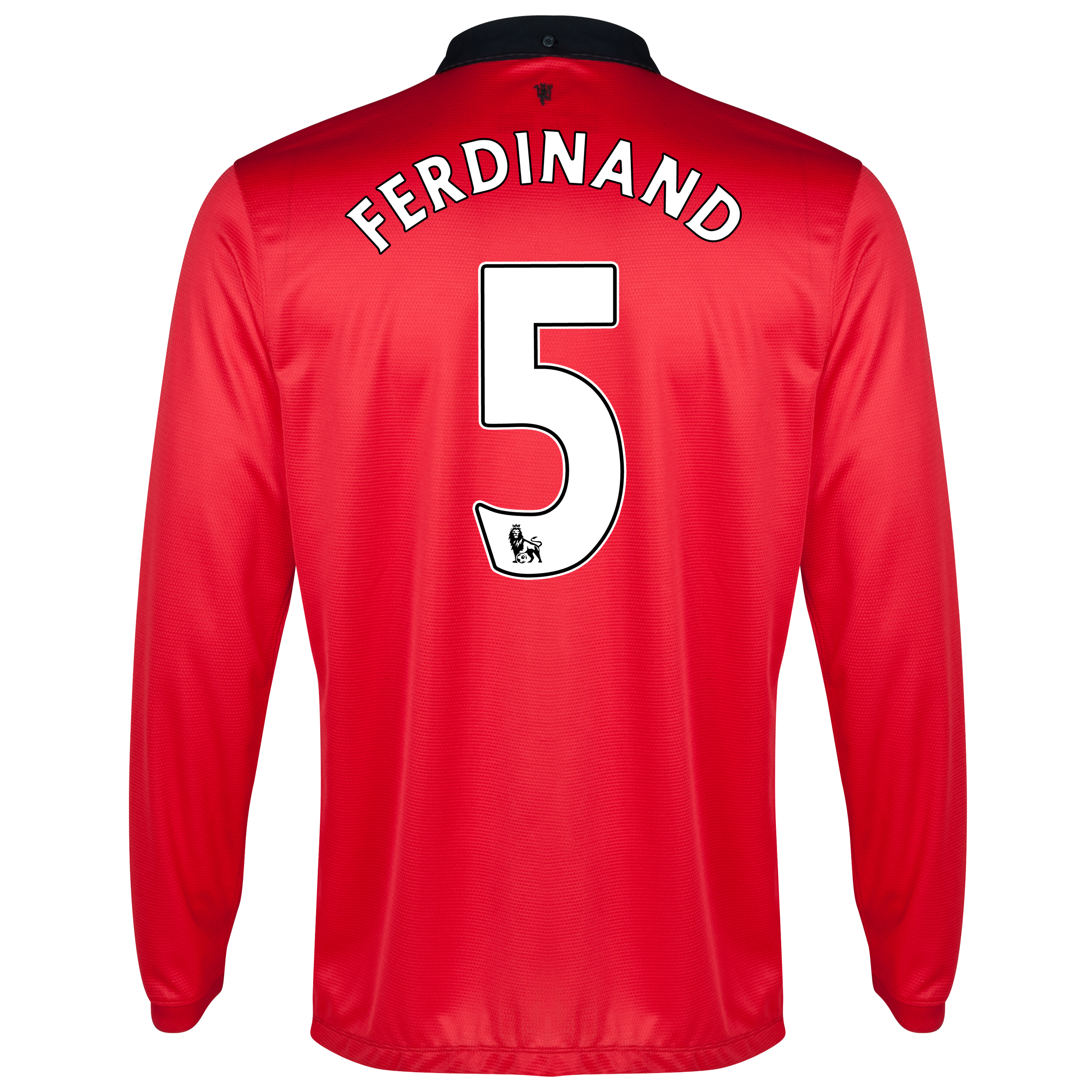 Manchester United Home Shirt 2013/14 - Long Sleeved with Ferdinand 5 printing