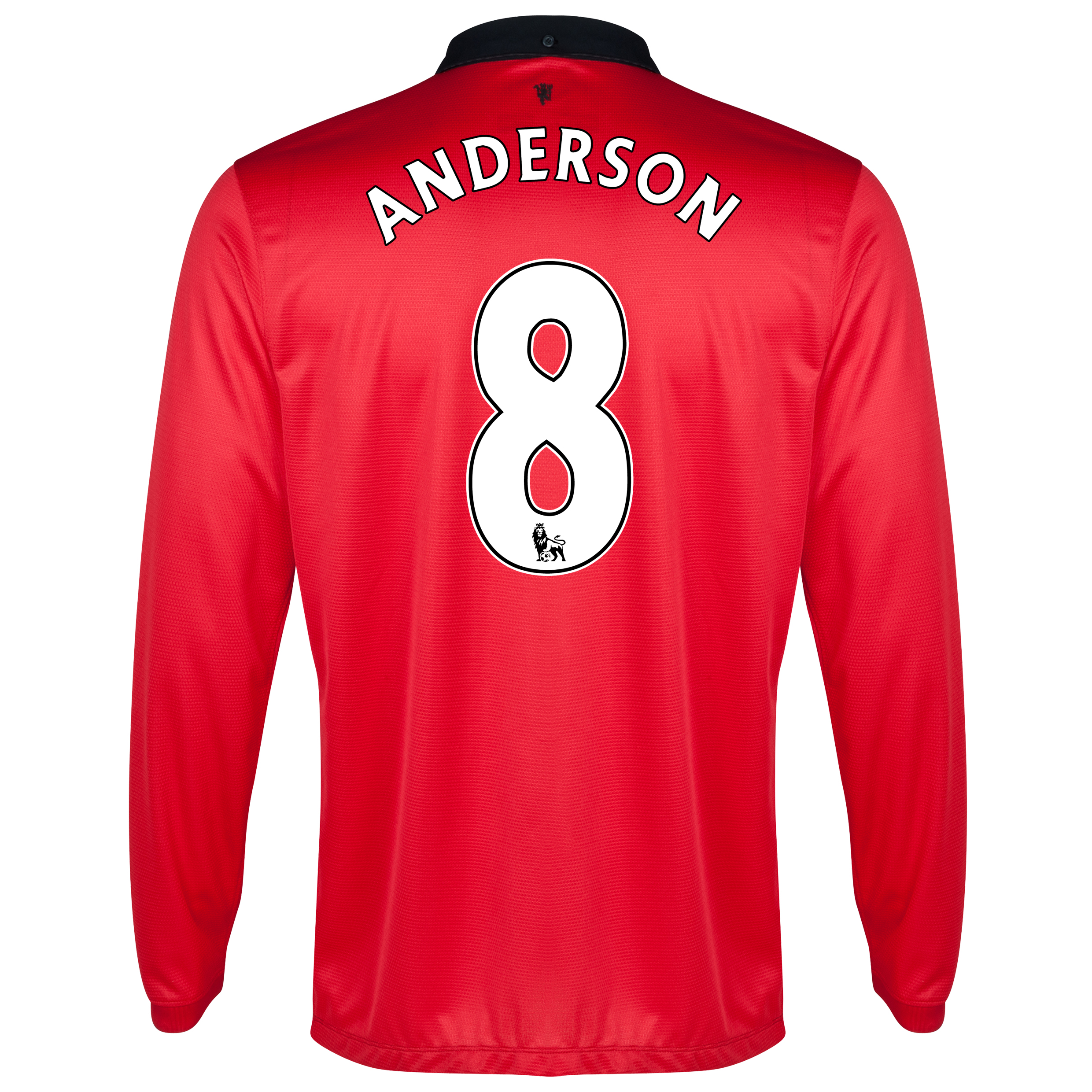 Manchester United Home Shirt 2013/14 - Long Sleeved with Anderson 8 printing