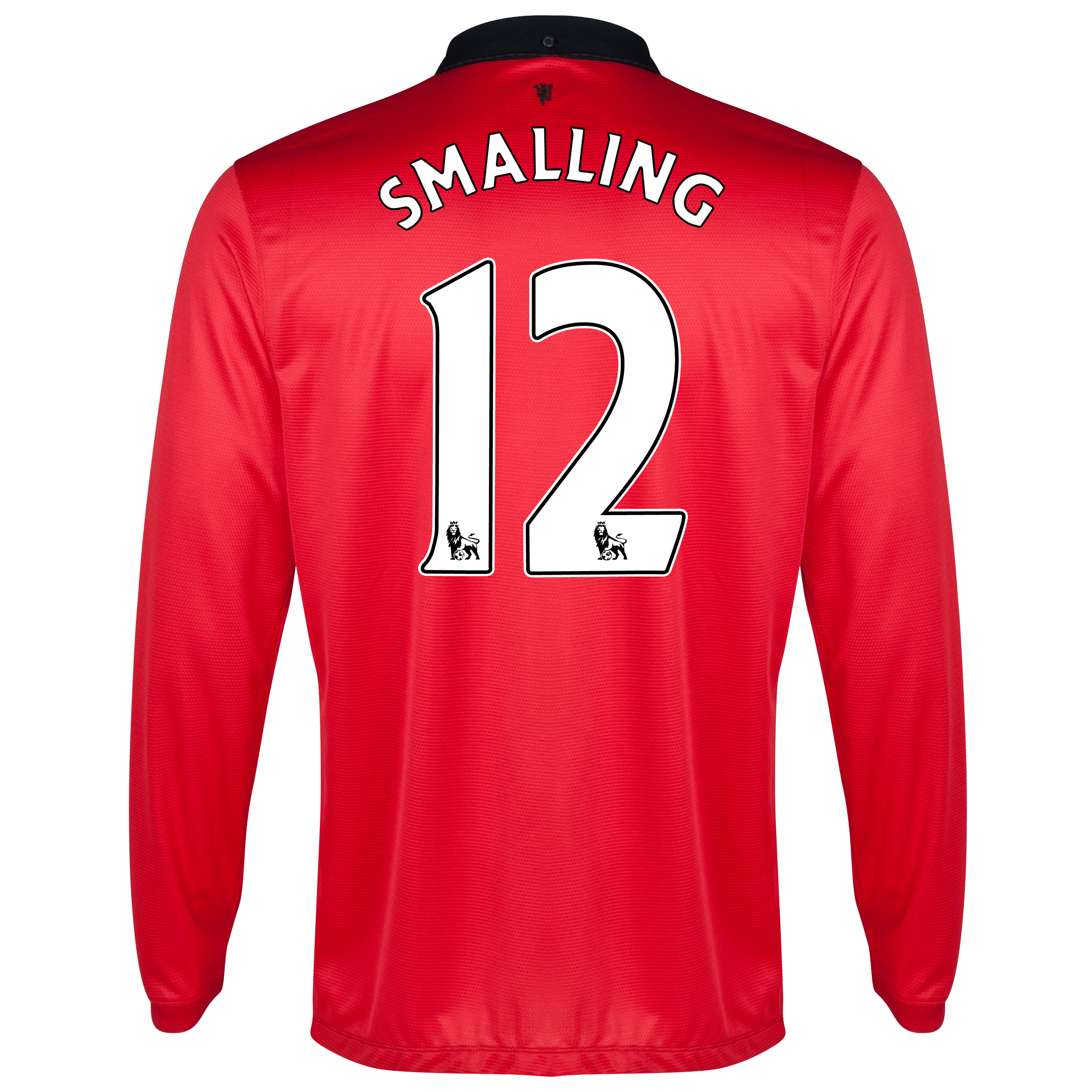 Manchester United Home Shirt 2013/14 - Long Sleeved with Smalling 12 printing