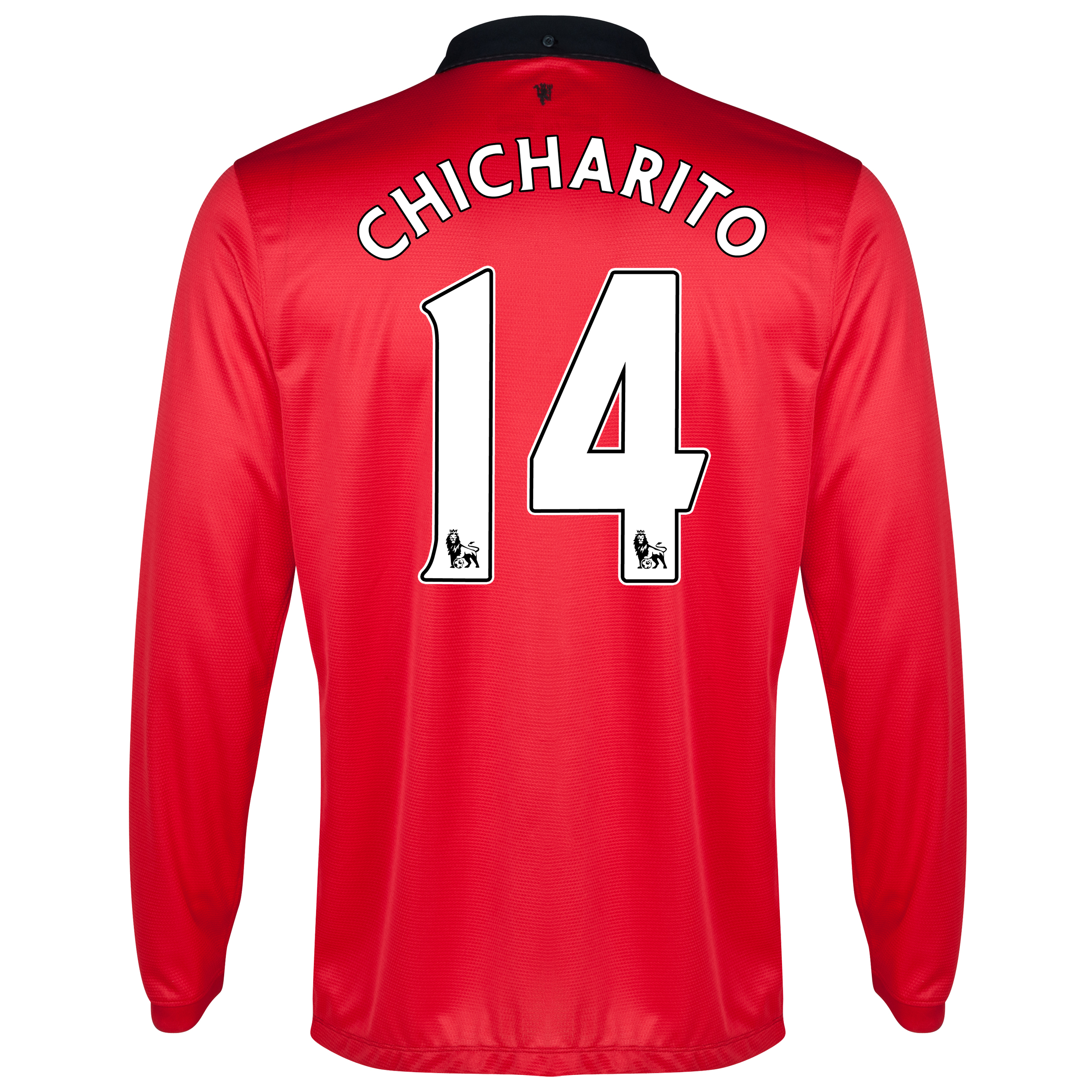 Manchester United Home Shirt 2013/14 - Long Sleeved with Chicharito 14 printing