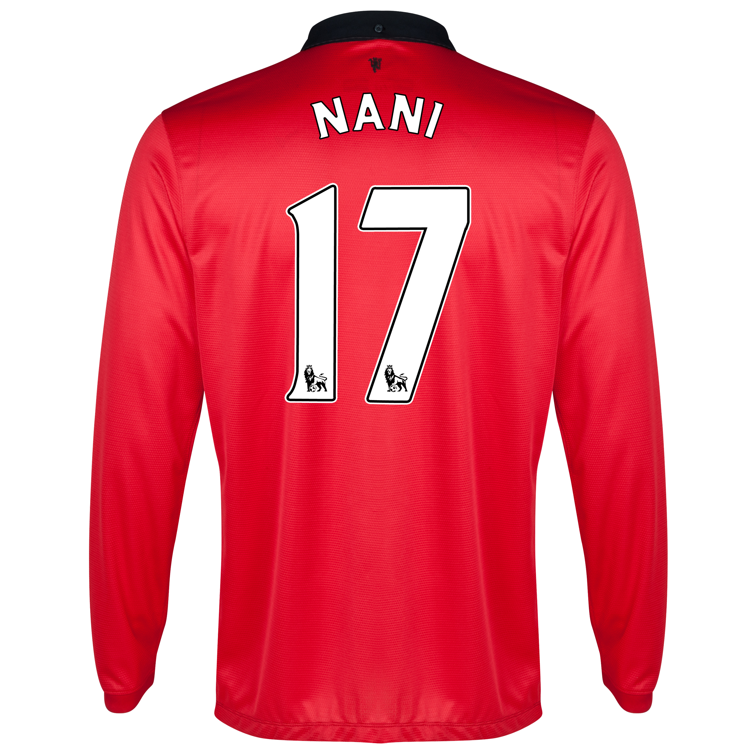 Manchester United Home Shirt 2013/14 - Long Sleeved with Nani 17 printing