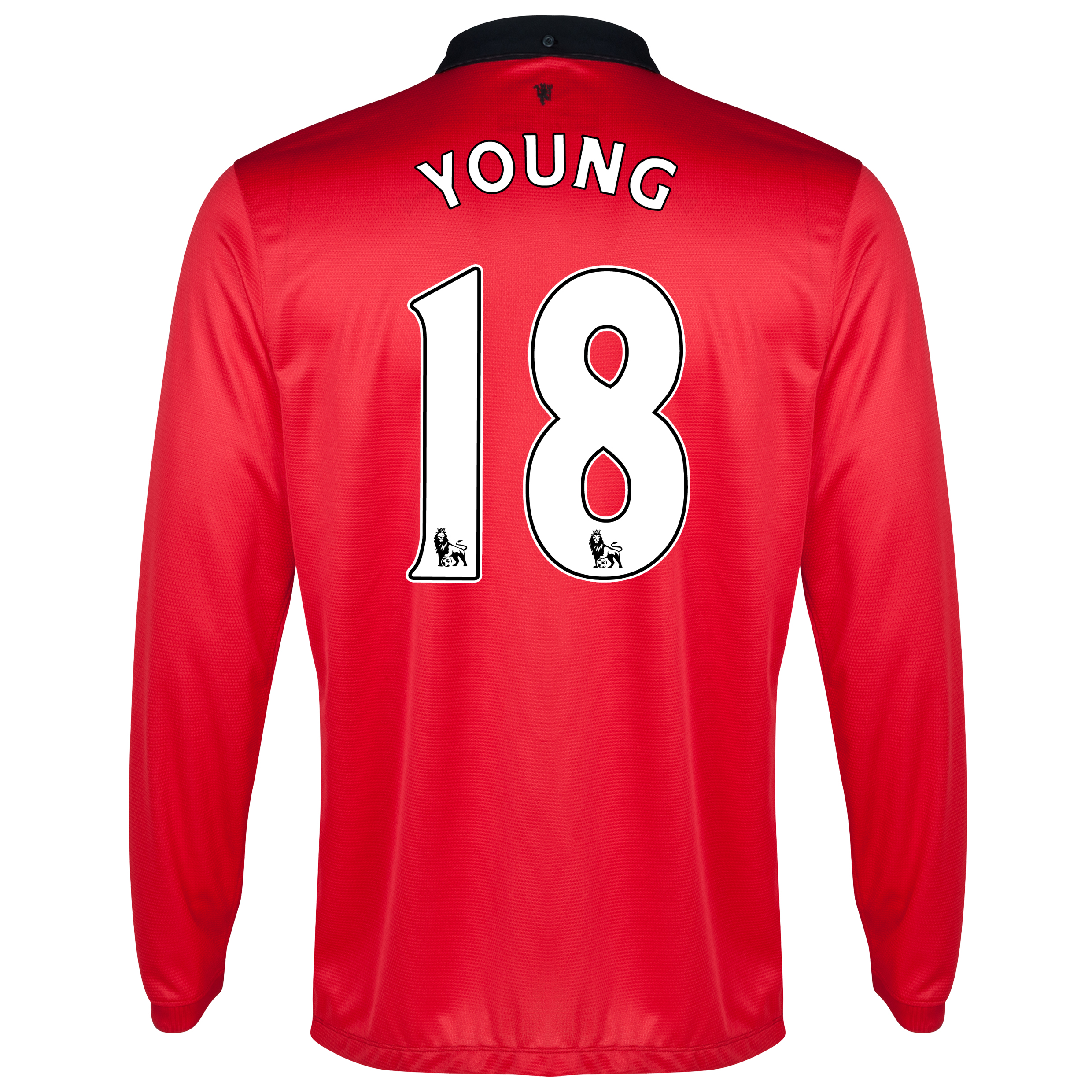 Manchester United Home Shirt 2013/14 - Long Sleeved with Young 18 printing