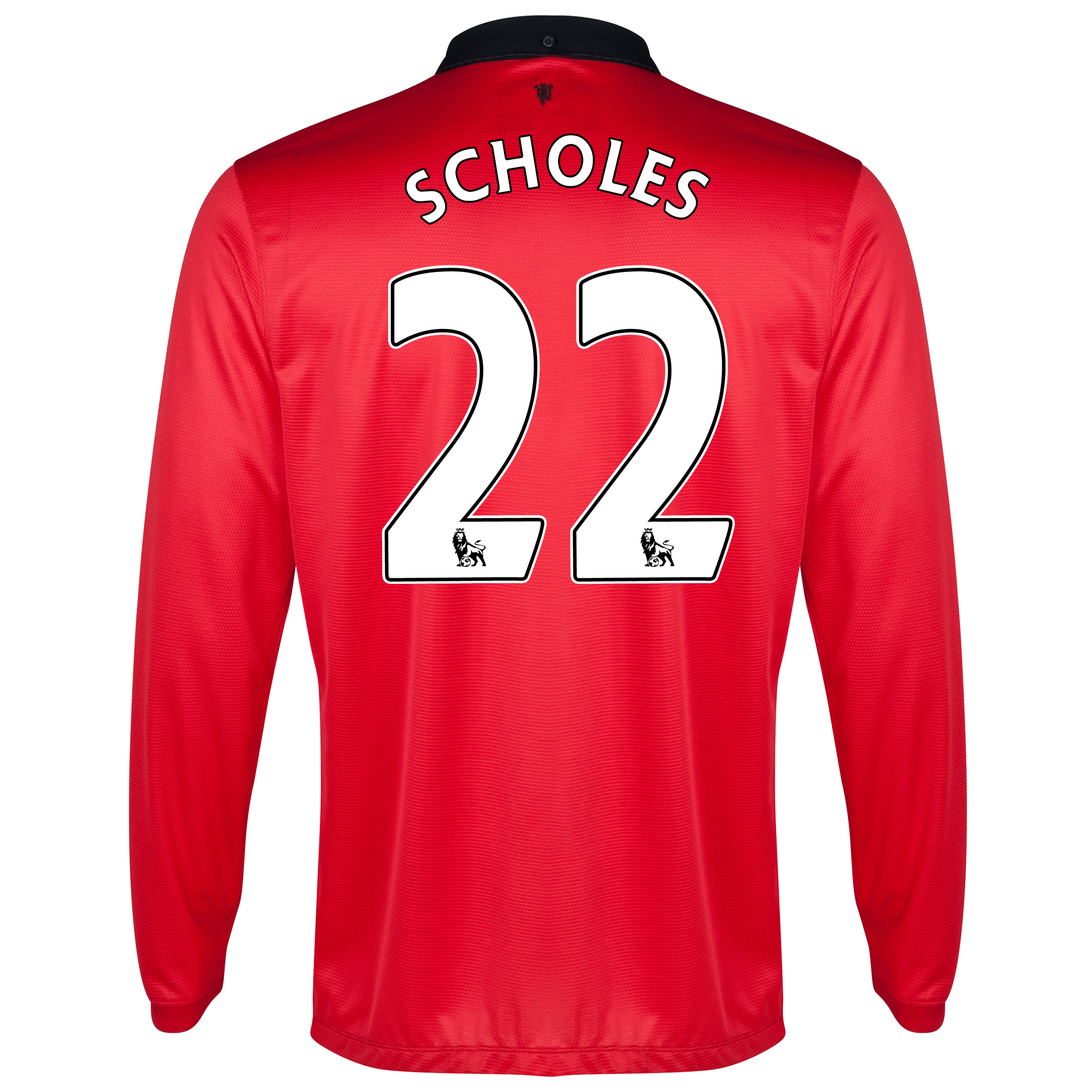 Manchester United Home Shirt 2013/14 - Long Sleeved with Scholes 22 printing