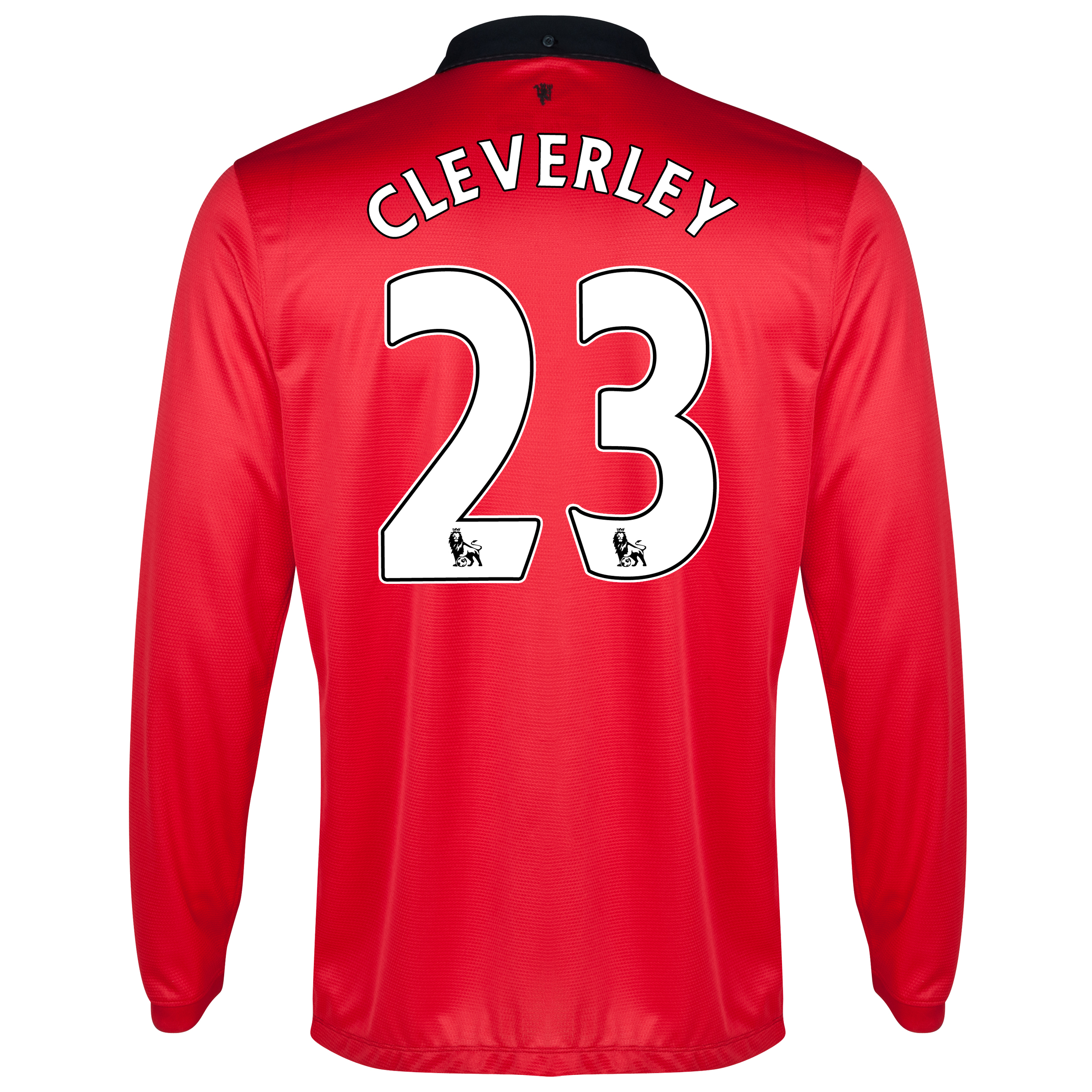 Manchester United Home Shirt 2013/14 - Long Sleeved with Cleverley 23 printing