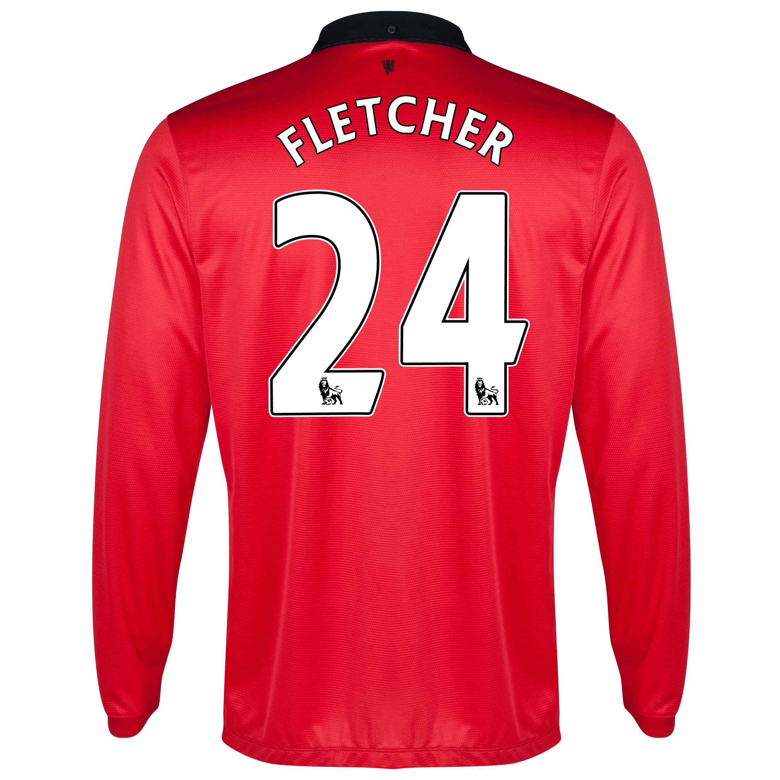 Manchester United Home Shirt 2013/14 - Long Sleeved with Fletcher 24 printing