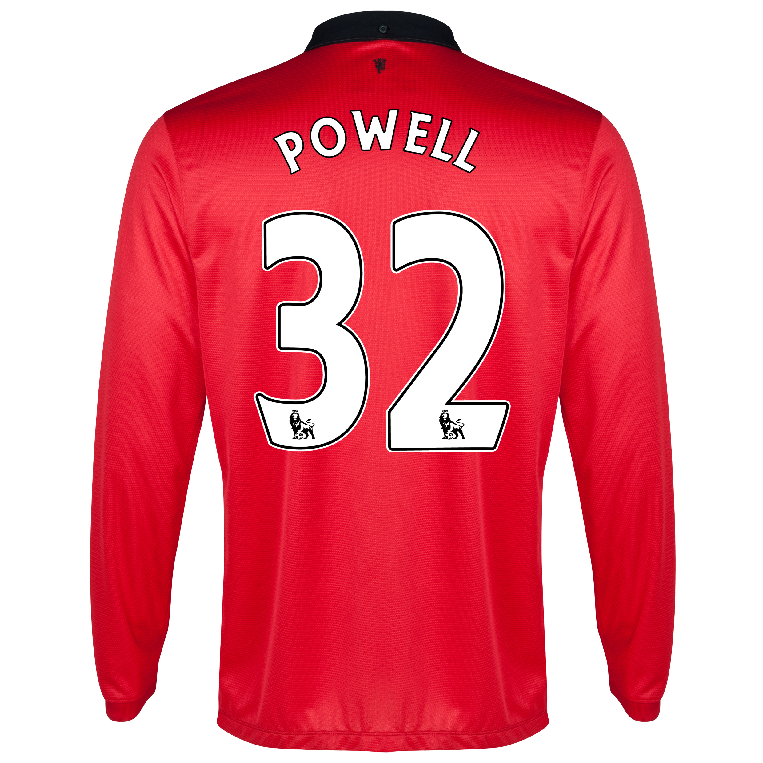 Manchester United Home Shirt 2013/14 - Long Sleeved with Powell 25 printing
