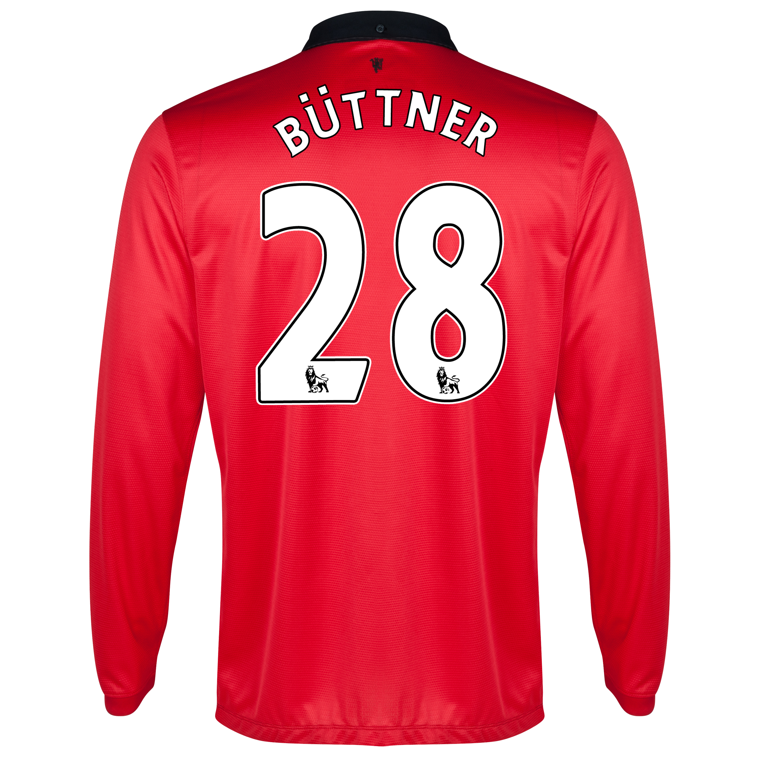 Manchester United Home Shirt 2013/14 - Long Sleeved with Büttner 28 printing