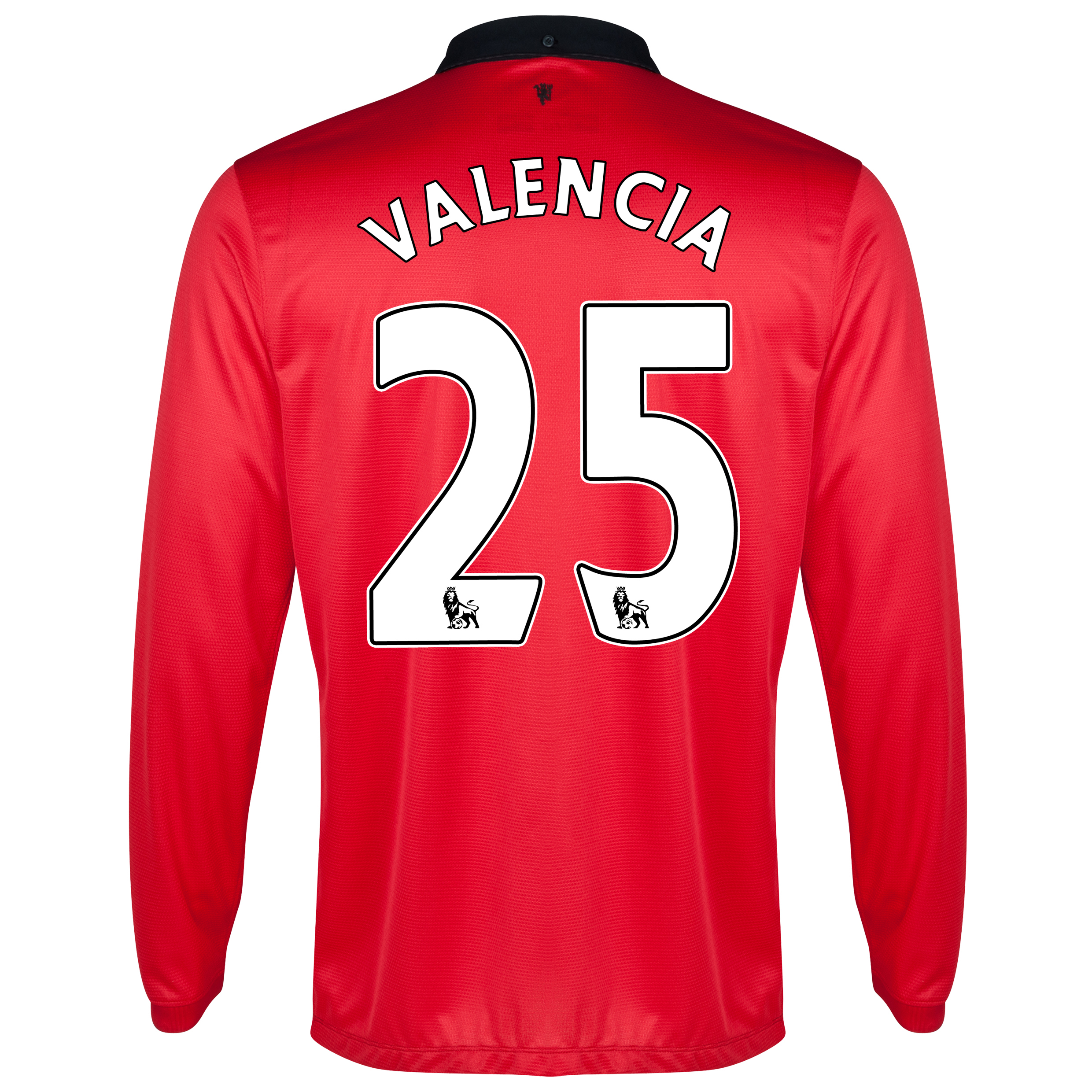 Manchester United Home Shirt 2013/14 - Long Sleeved - Kids with Valencia 7 printing