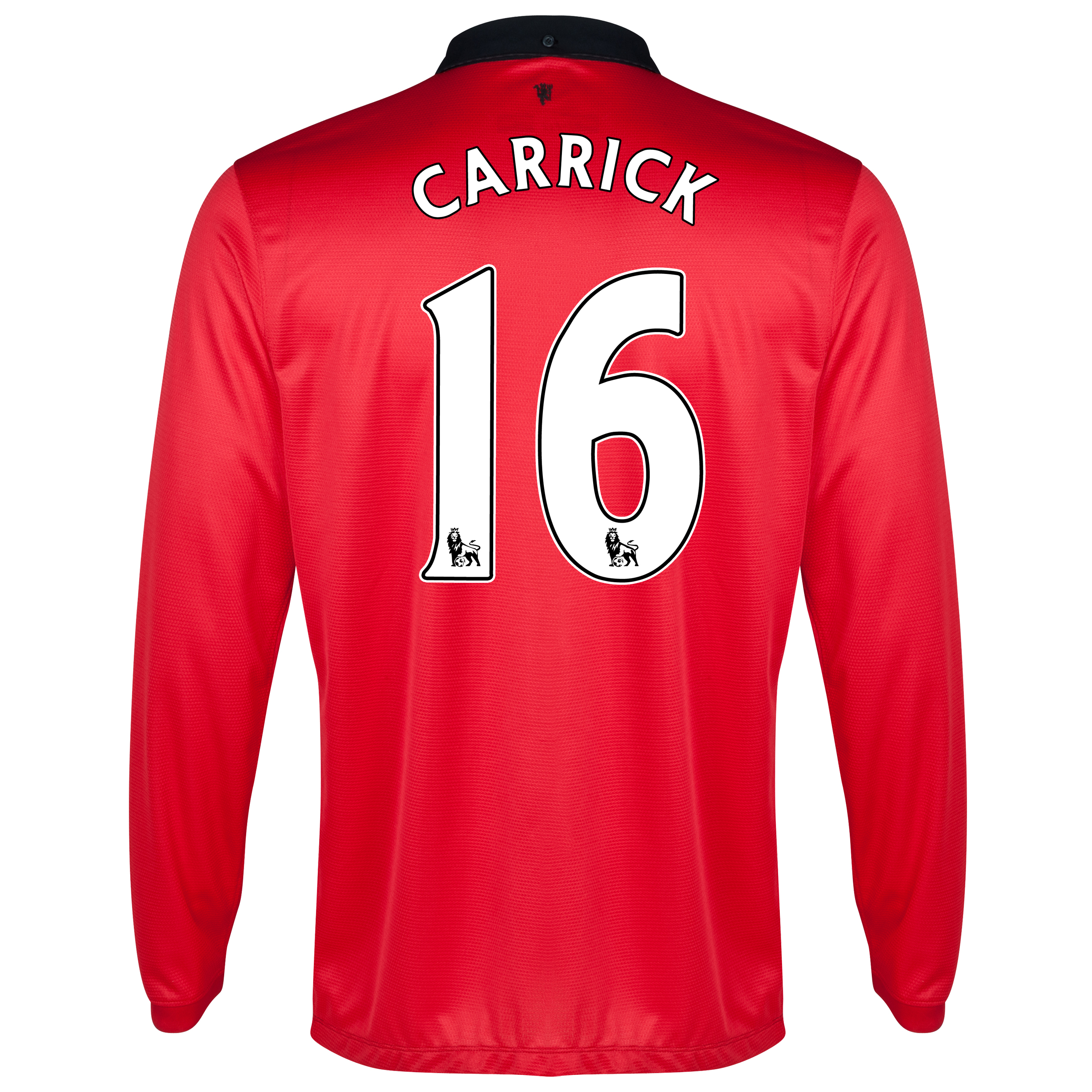 Manchester United Home Shirt 2013/14 - Long Sleeved - Kids with Carrick 16 printing