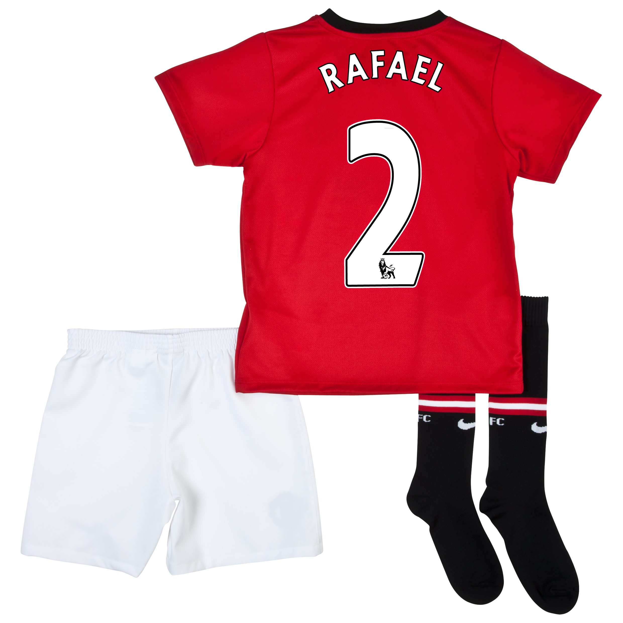 Manchester United Home Kit 2013/14 - Little Boys with Rafael 2 printing