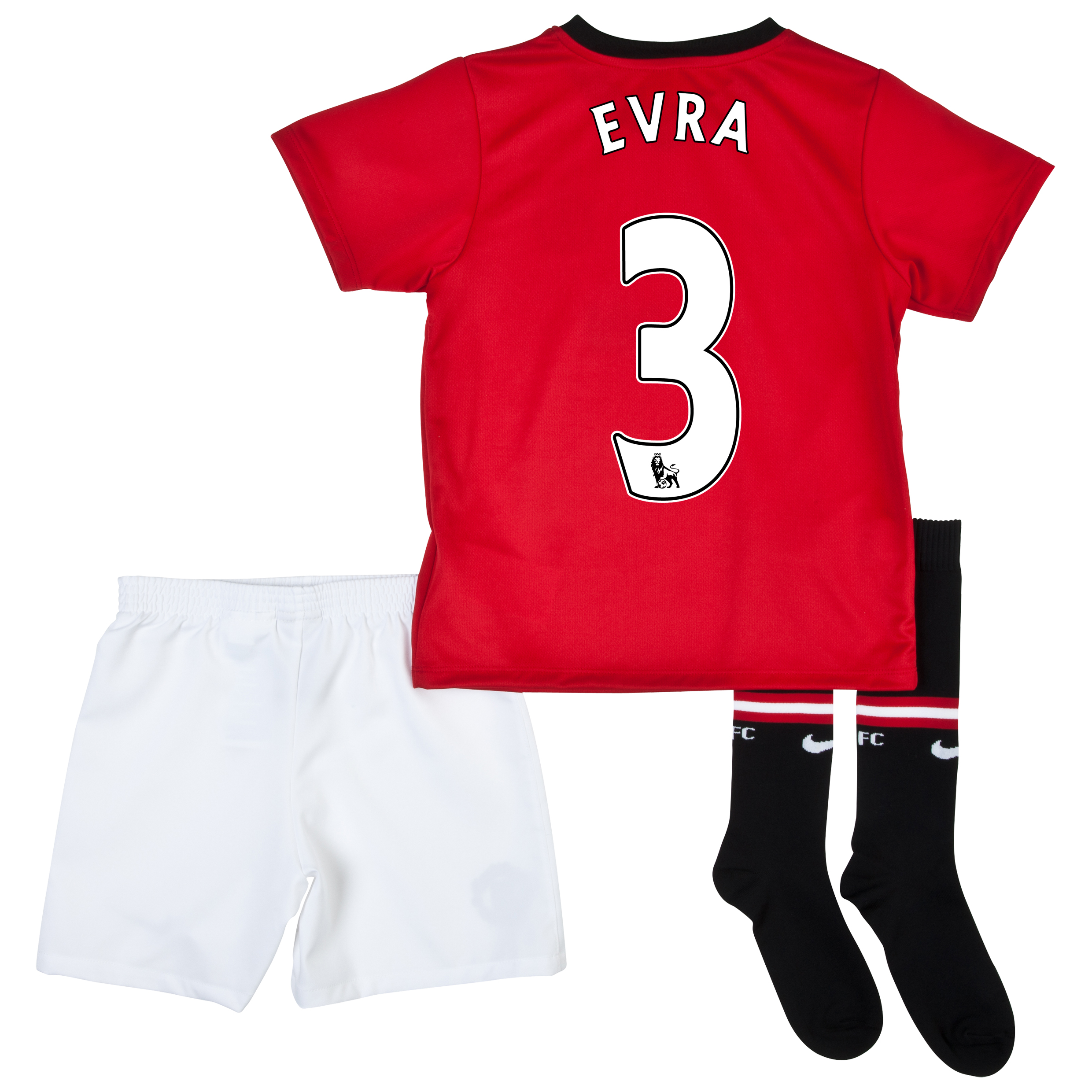 Manchester United Home Kit 2013/14 - Little Boys with Evra 3 printing