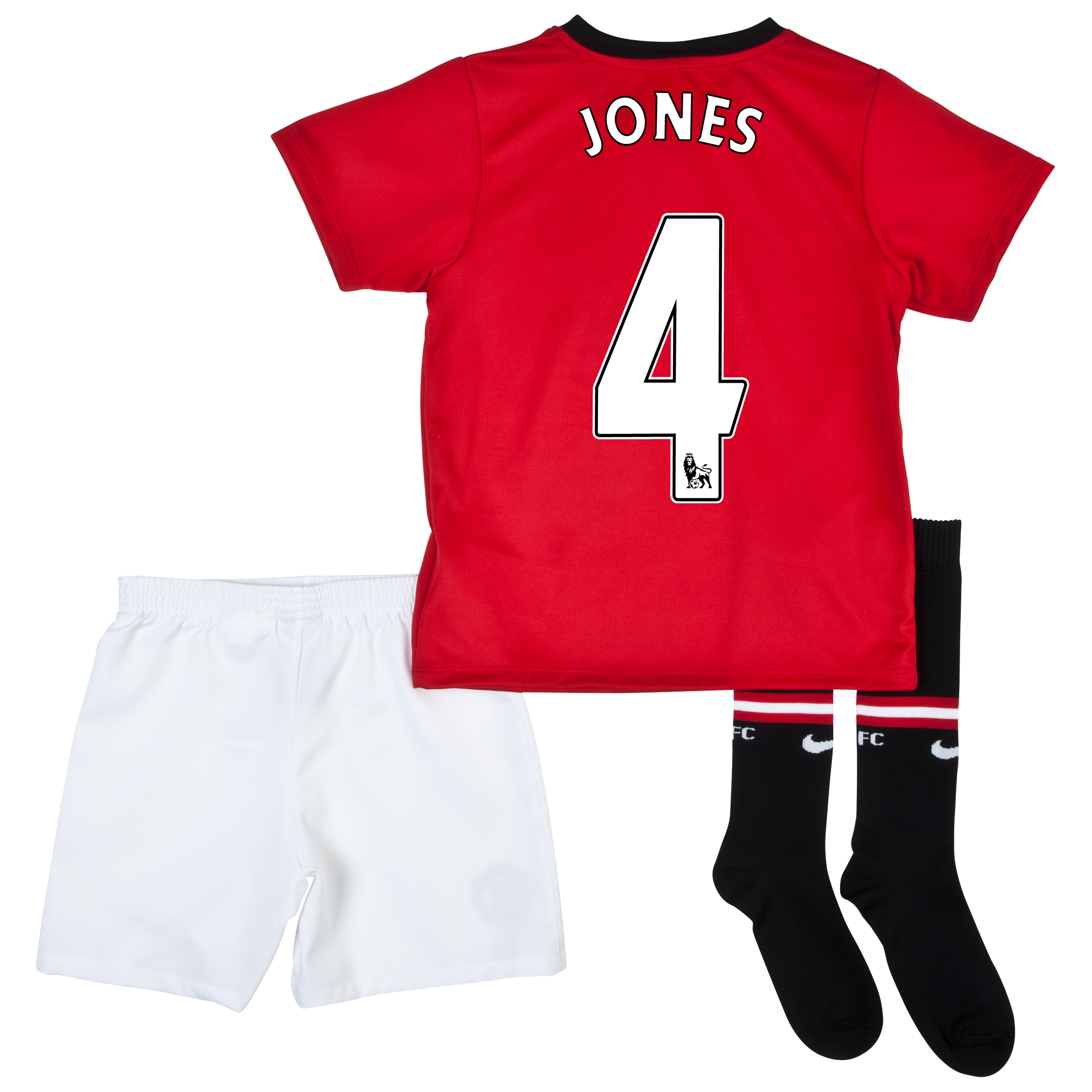 Manchester United Home Kit 2013/14 - Little Boys with Jones 4 printing