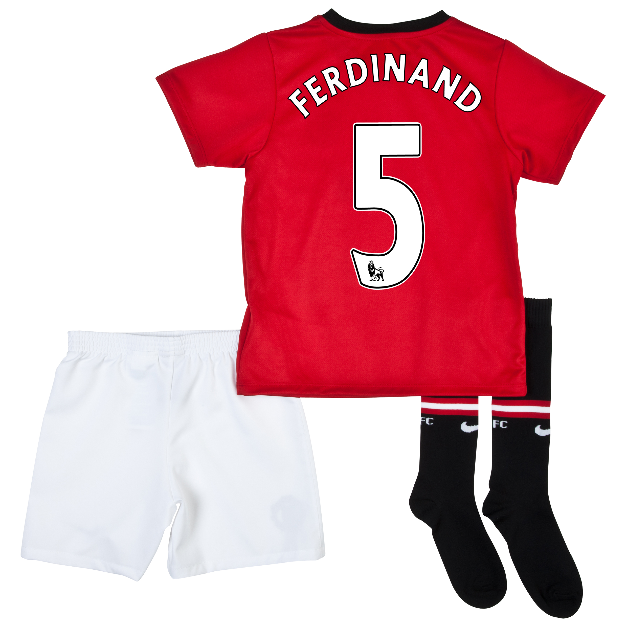 Manchester United Home Kit 2013/14 - Little Boys with Ferdinand 5 printing