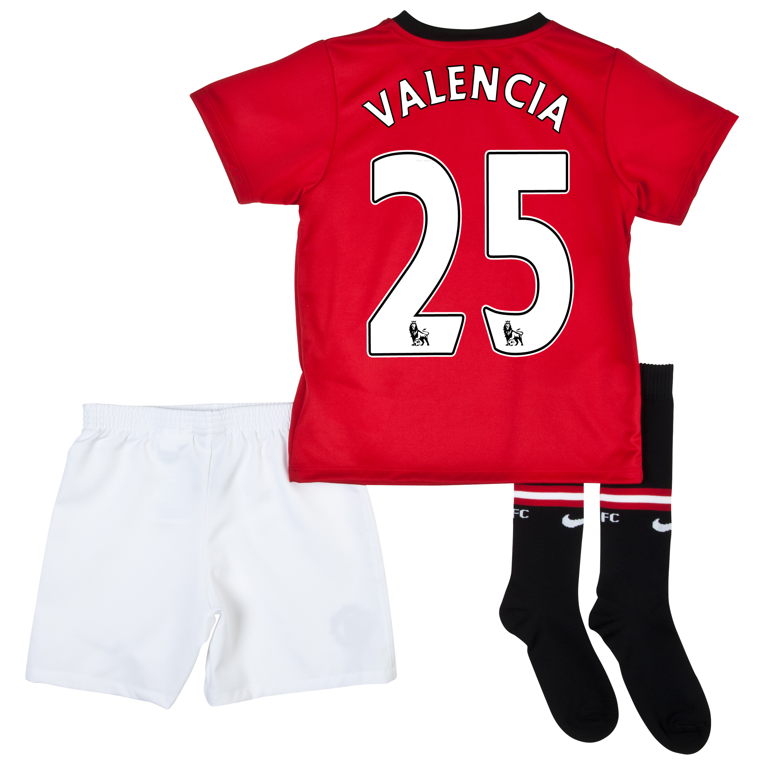 Manchester United Home Kit 2013/14 - Little Boys with Valencia 25 printing