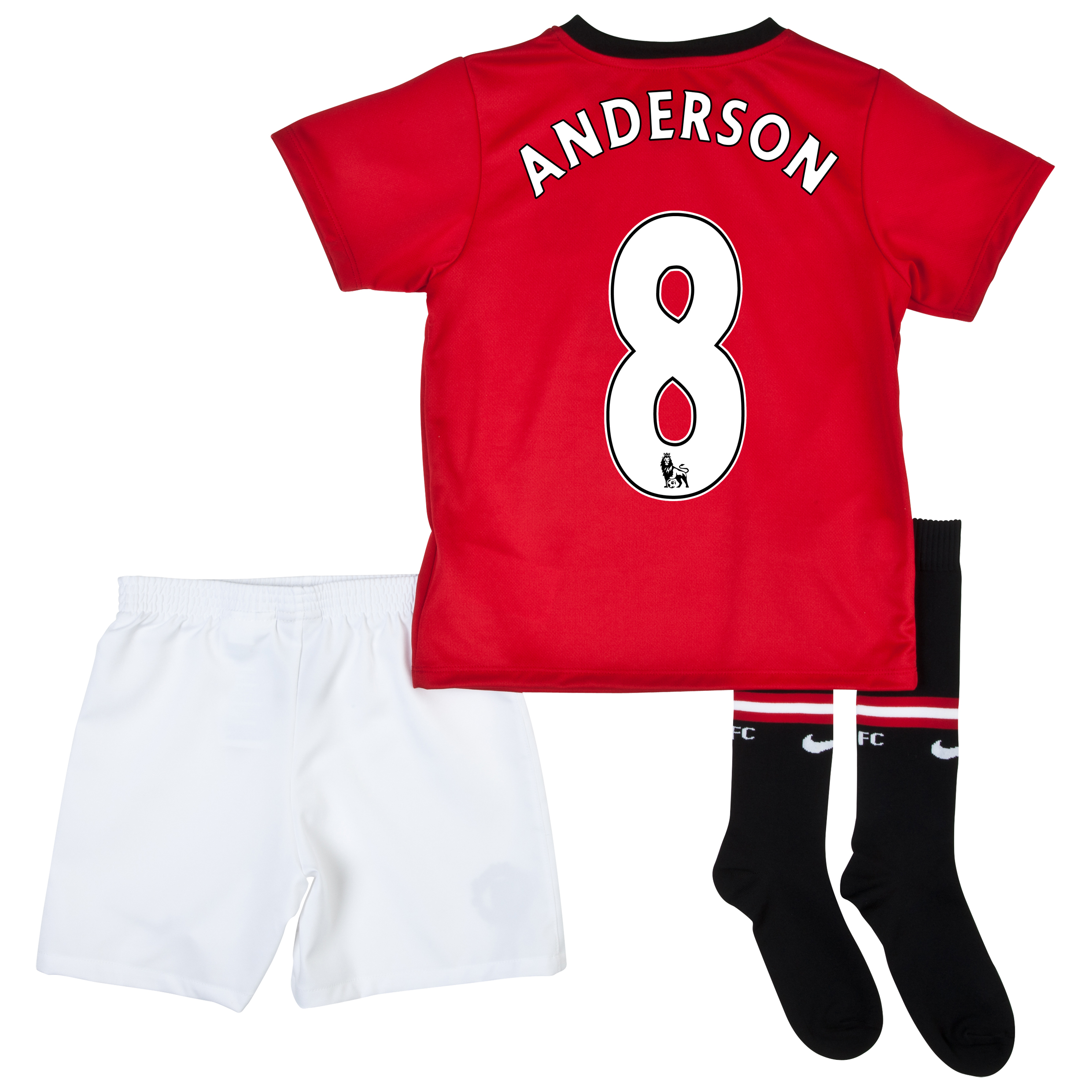 Manchester United Home Kit 2013/14 - Little Boys with Anderson 8 printing