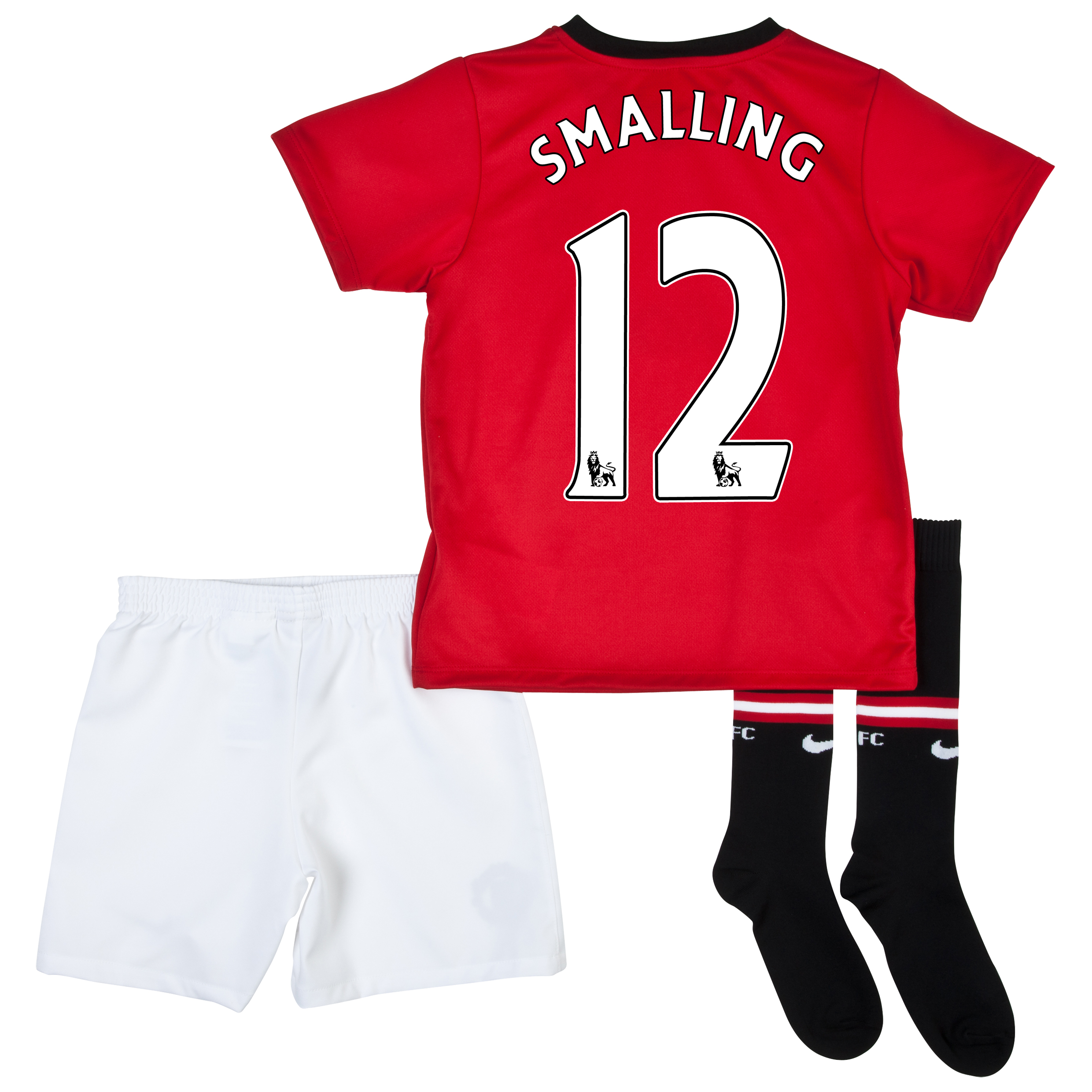 Manchester United Home Kit 2013/14 - Little Boys with Smalling 12 printing