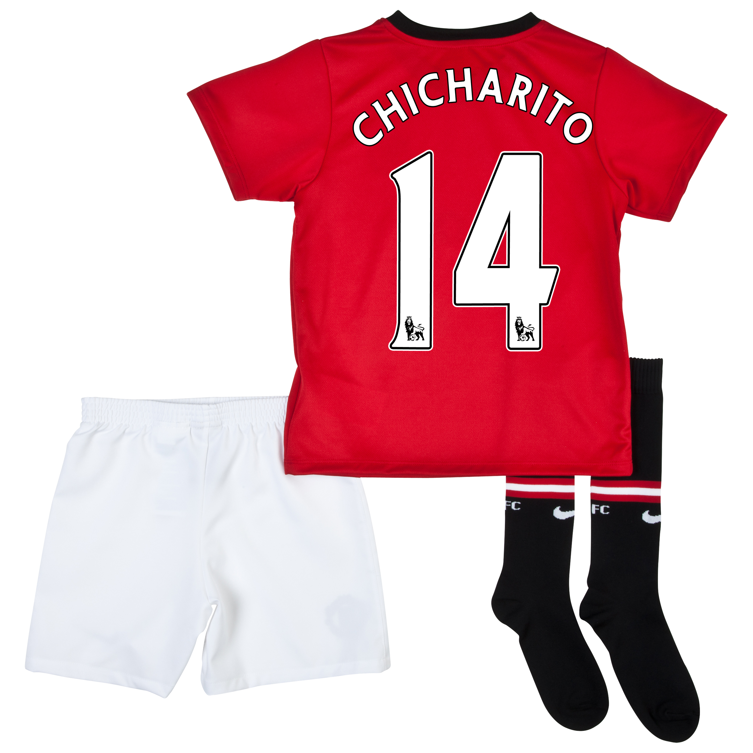 Manchester United Home Kit 2013/14 - Little Boys with Chicharito 14 printing