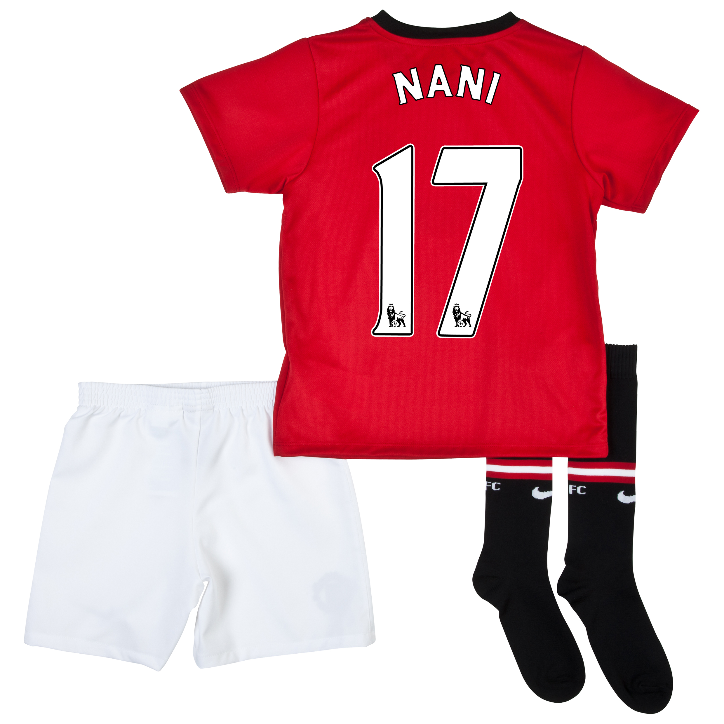 Manchester United Home Kit 2013/14 - Little Boys with Nani 17 printing