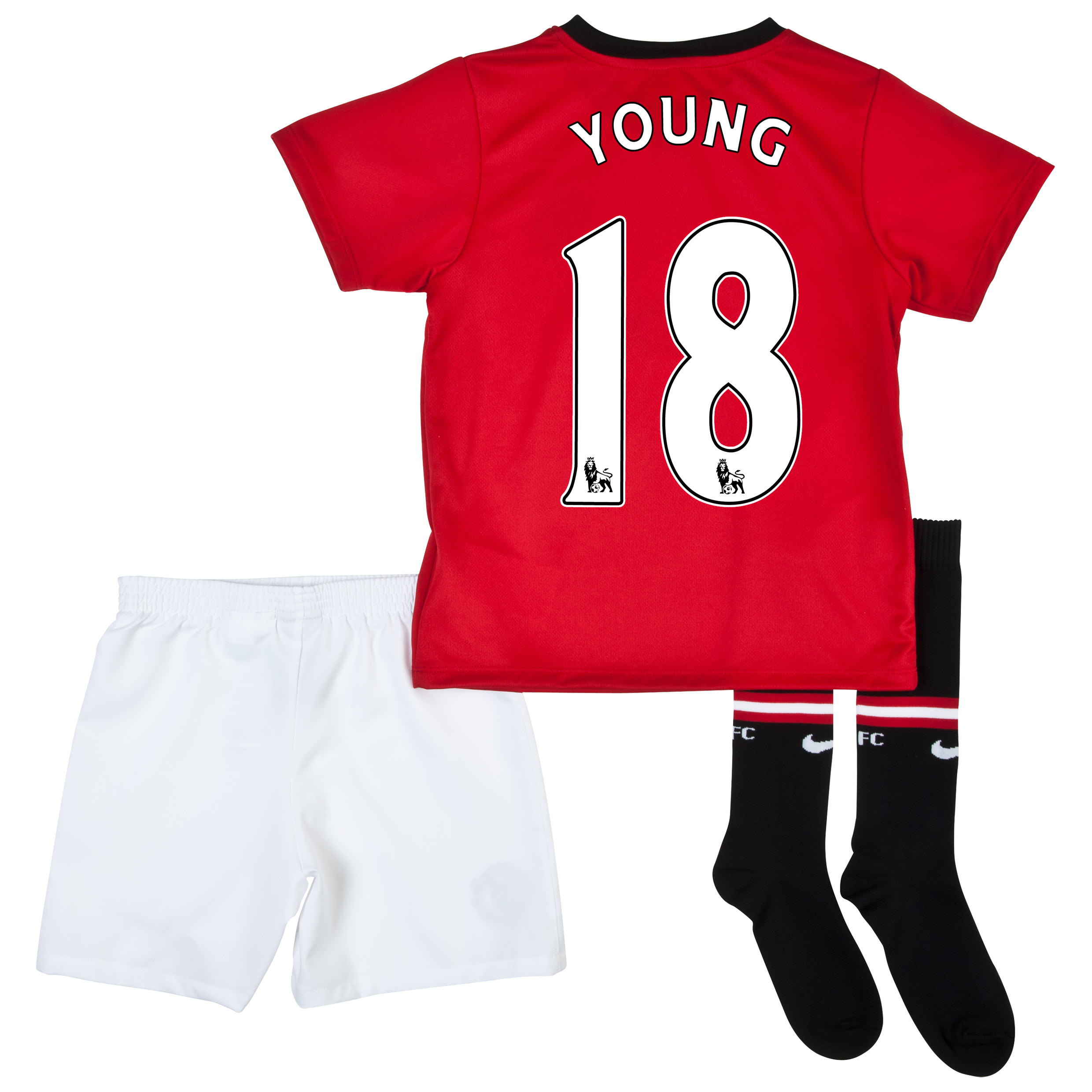 Manchester United Home Kit 2013/14 - Little Boys with Young 18 printing