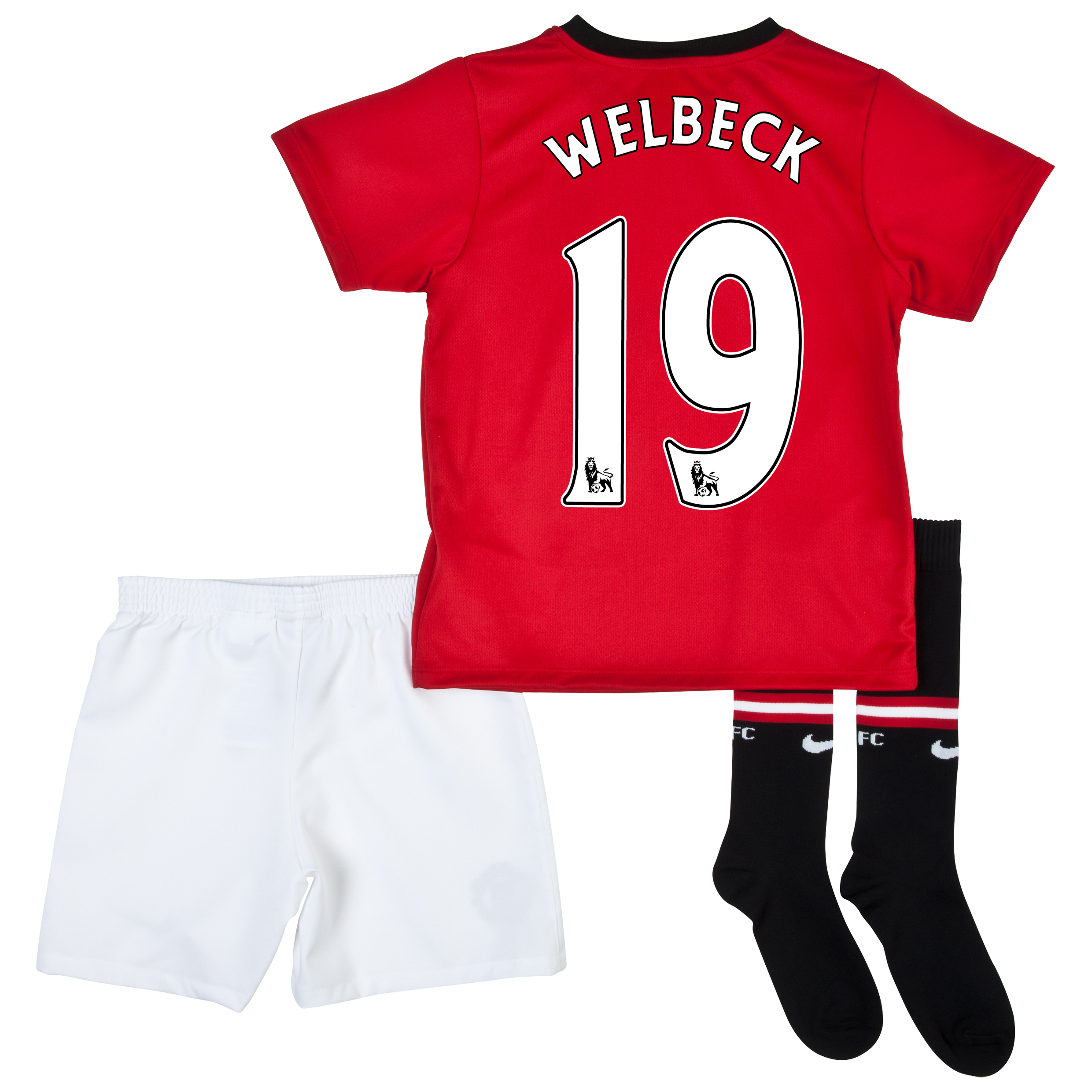 Manchester United Home Kit 2013/14 - Little Boys with Welbeck 19 printing
