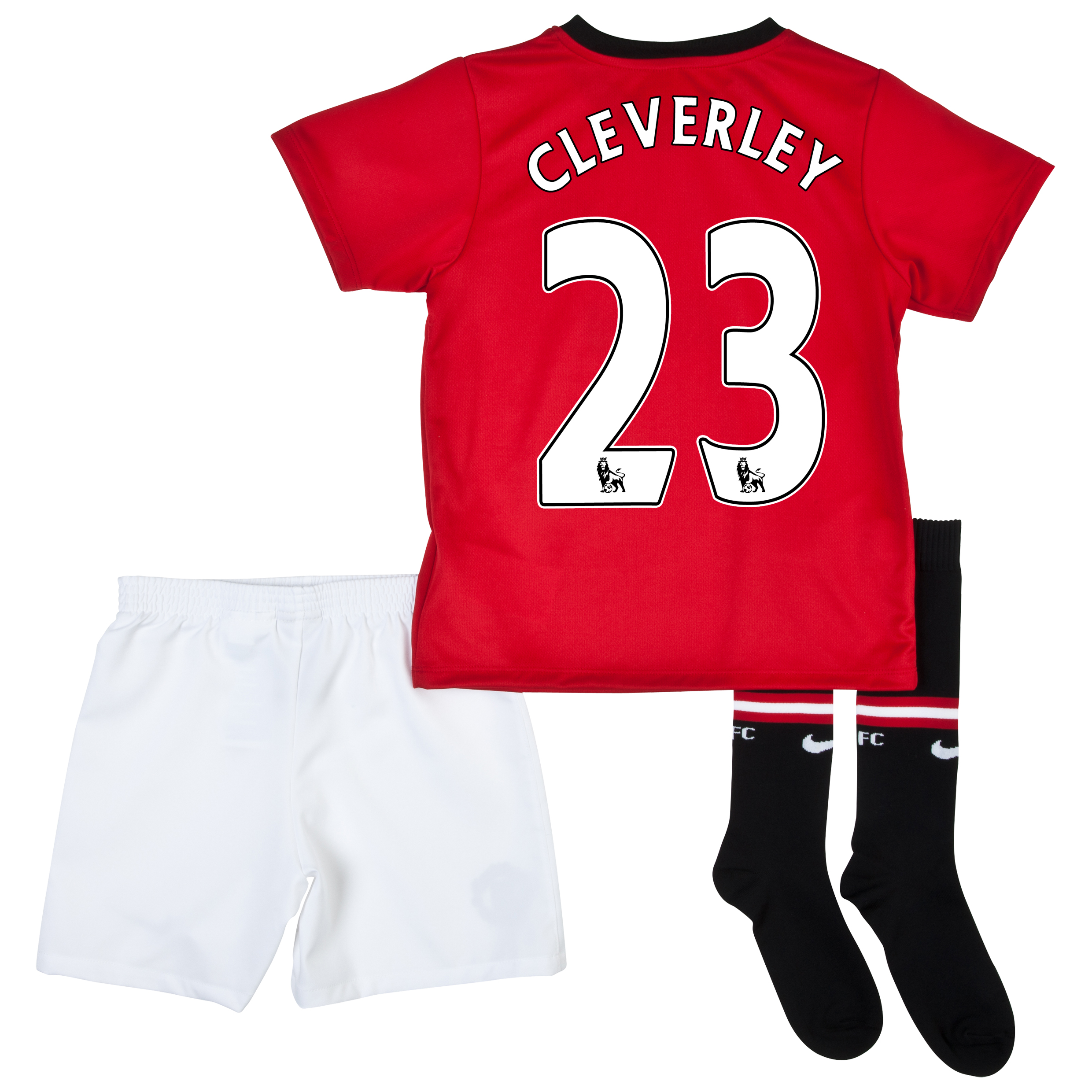 Manchester United Home Kit 2013/14 - Little Boys with Cleverley 23 printing