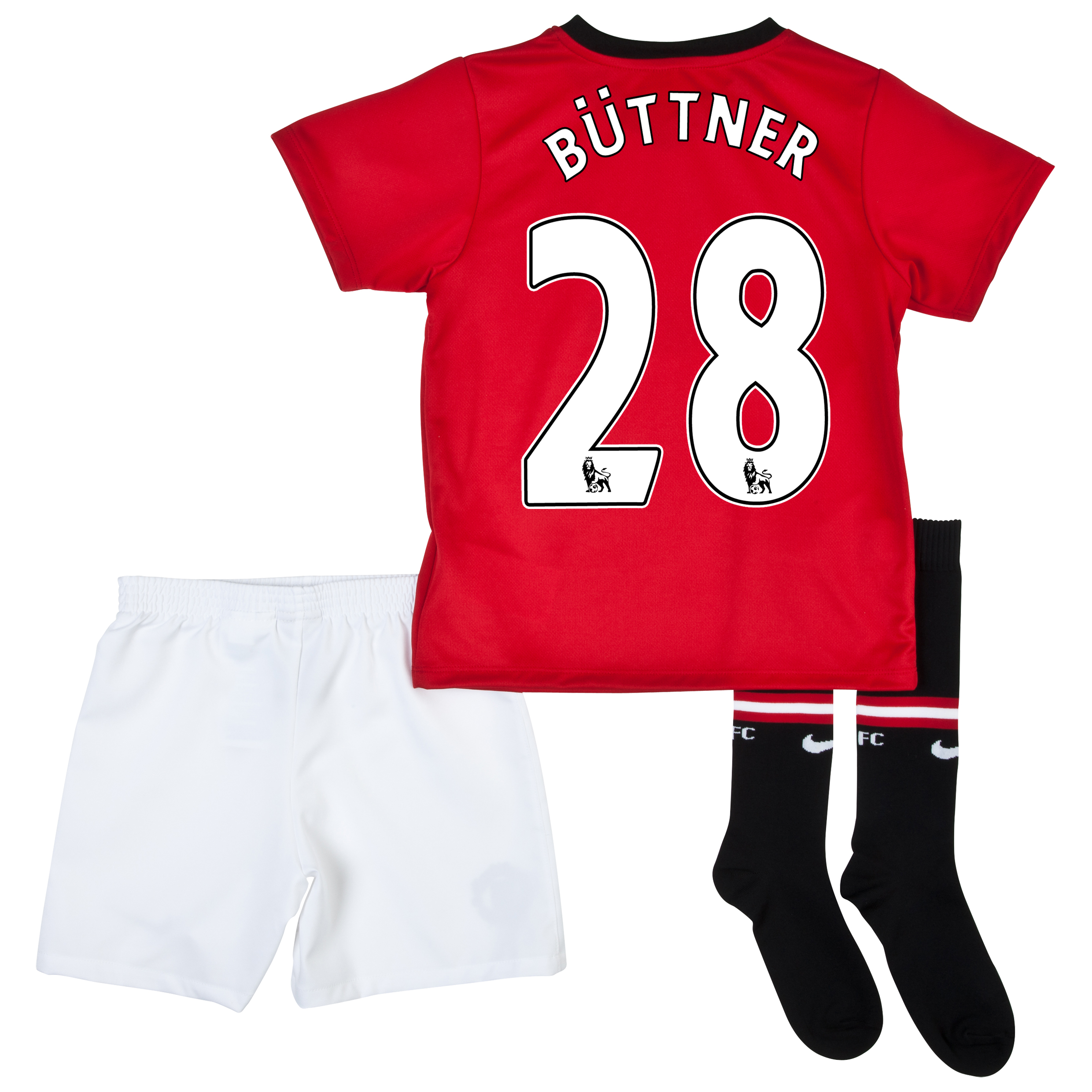Manchester United Home Kit 2013/14 - Little Boys with Büttner 28 printing