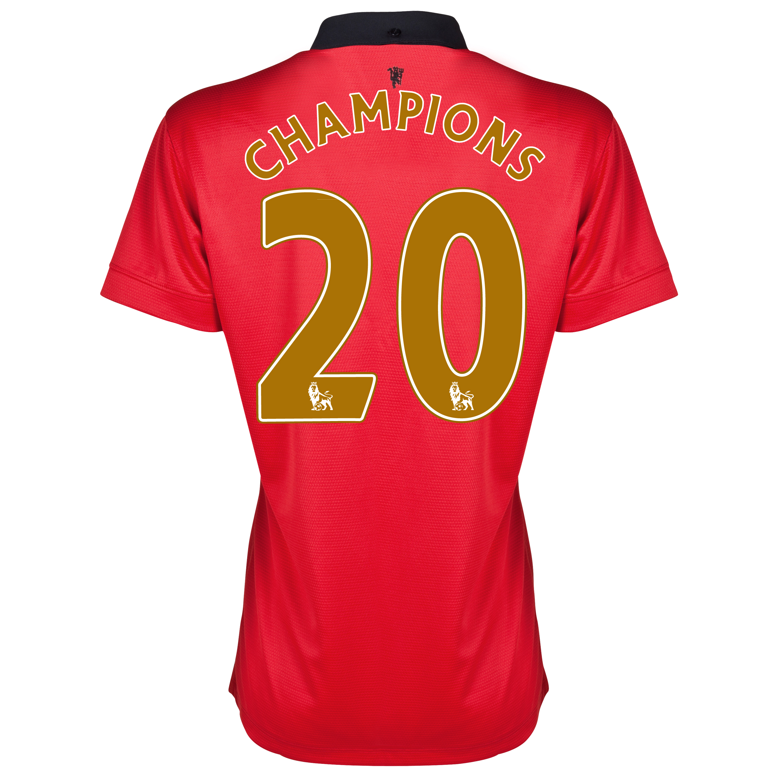 Manchester United Home Shirt 2013/14 - Womens with Champions 20 printing