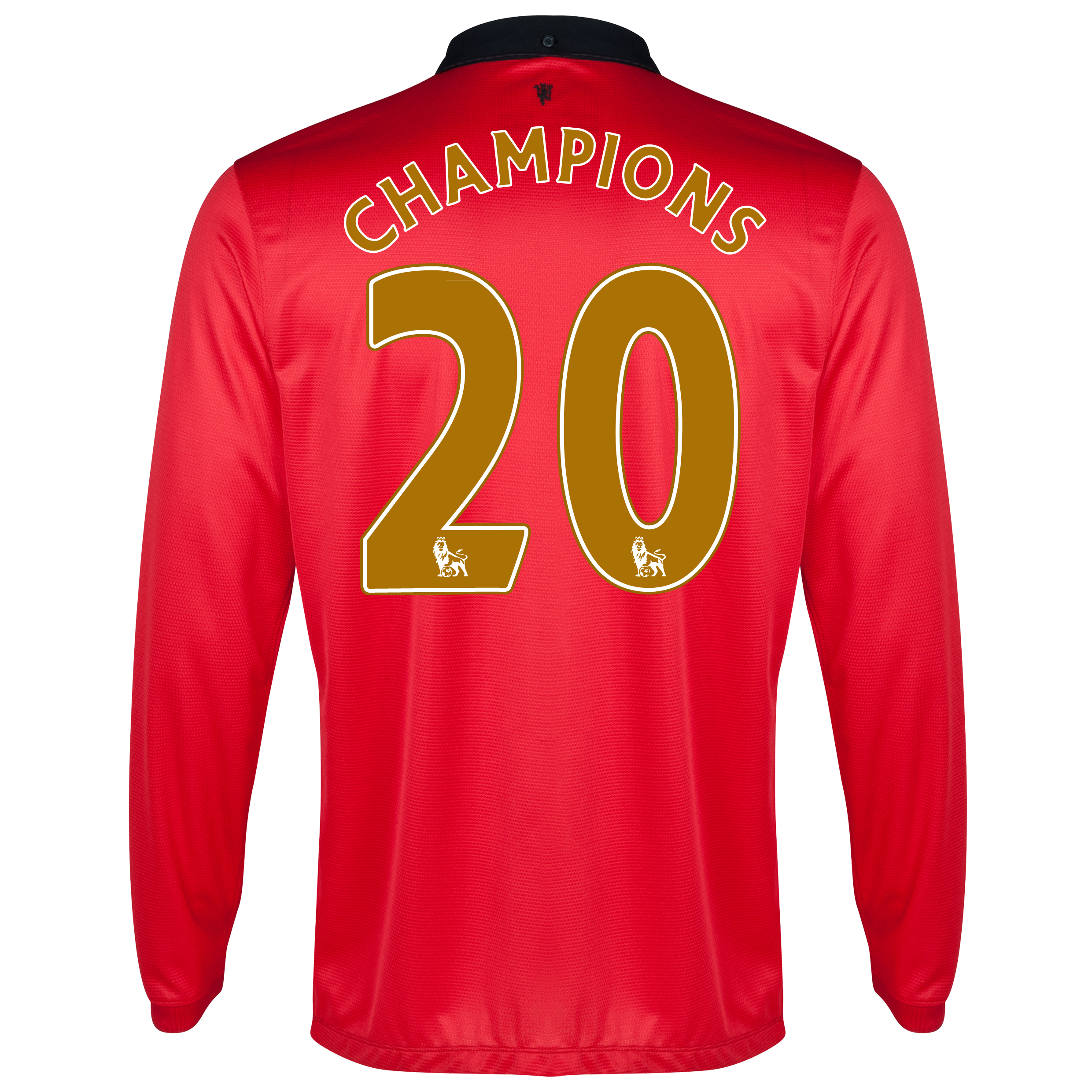 Manchester United Home Shirt 2013/14 - Long Sleeved - Kids with Champions 20 printing