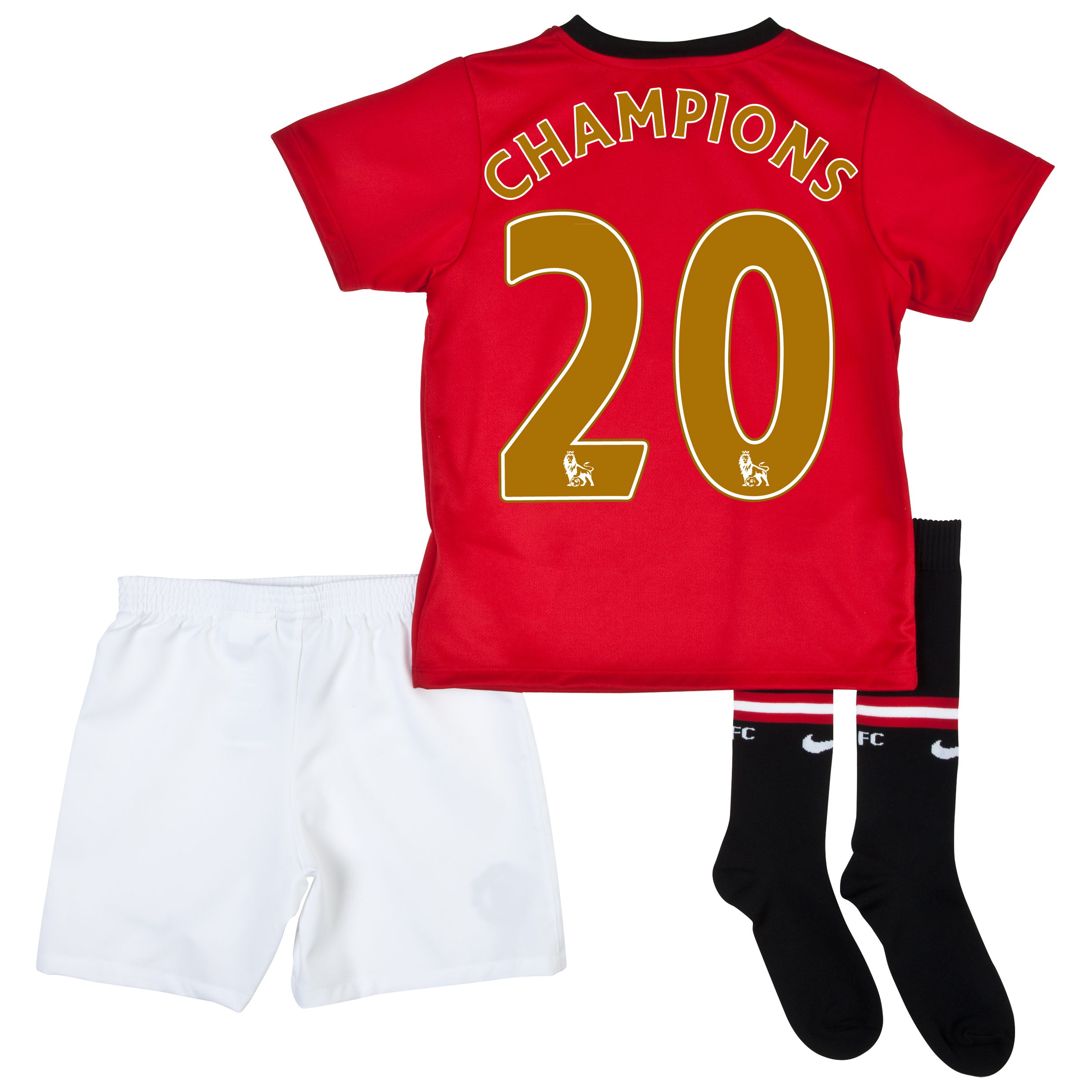 Manchester United Home Kit 2013/14 - Little Boys with Champions 20 printing