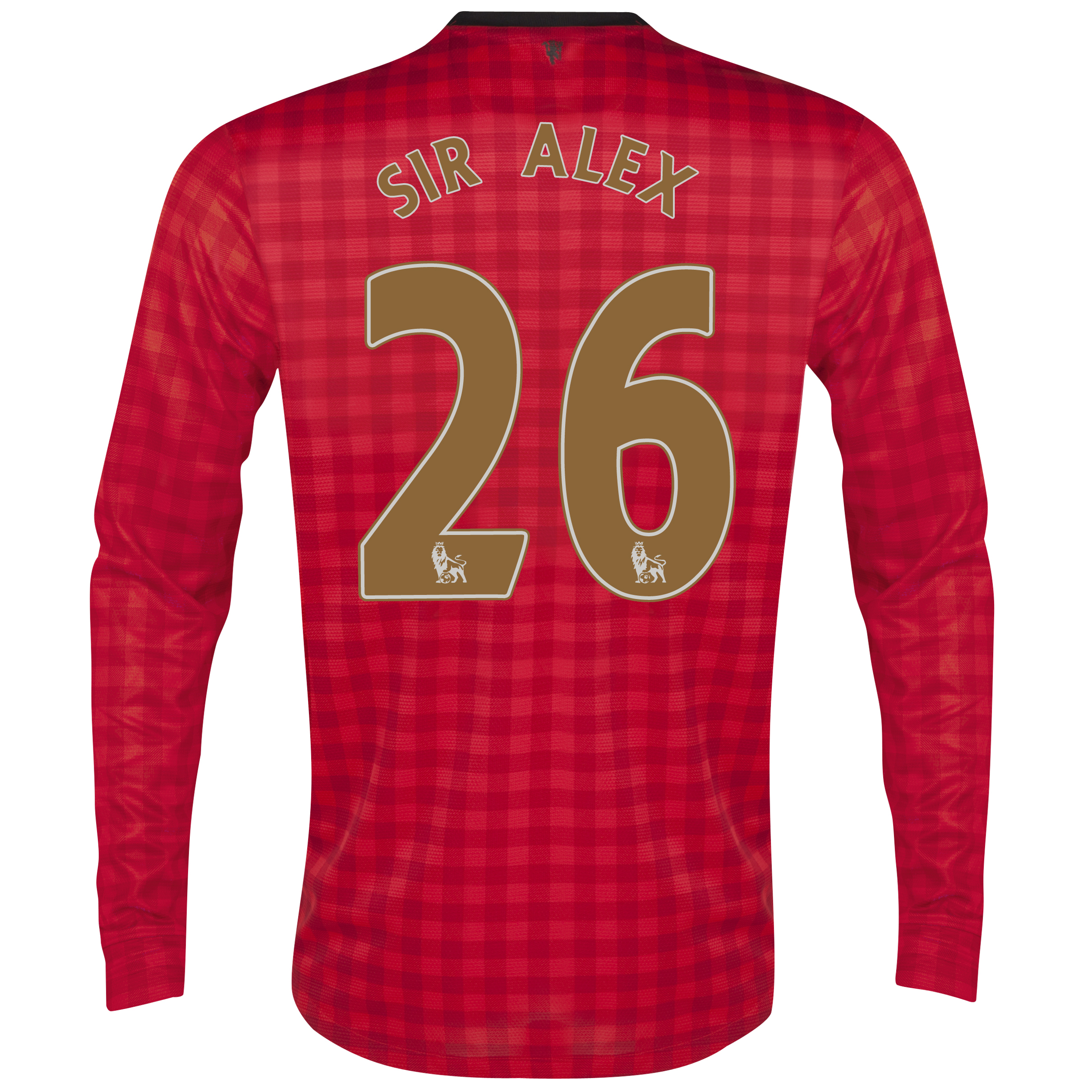 Manchester United Home Shirt 2012/13 - Long Sleeved  - Youths with Sir Alex 26 printing
