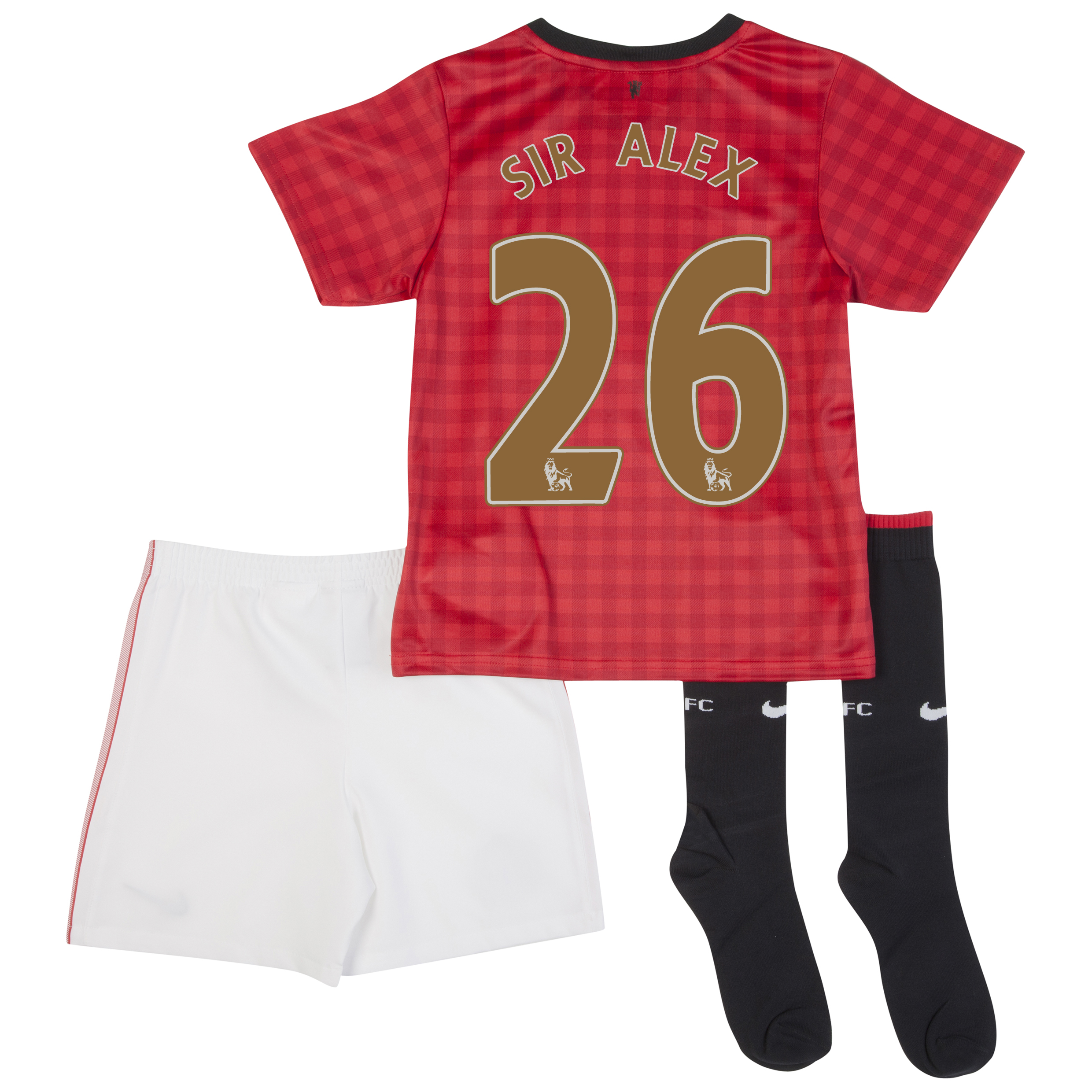 Manchester United Home Kit 2012/13 -  Little Boys with Sir Alex 26 printing