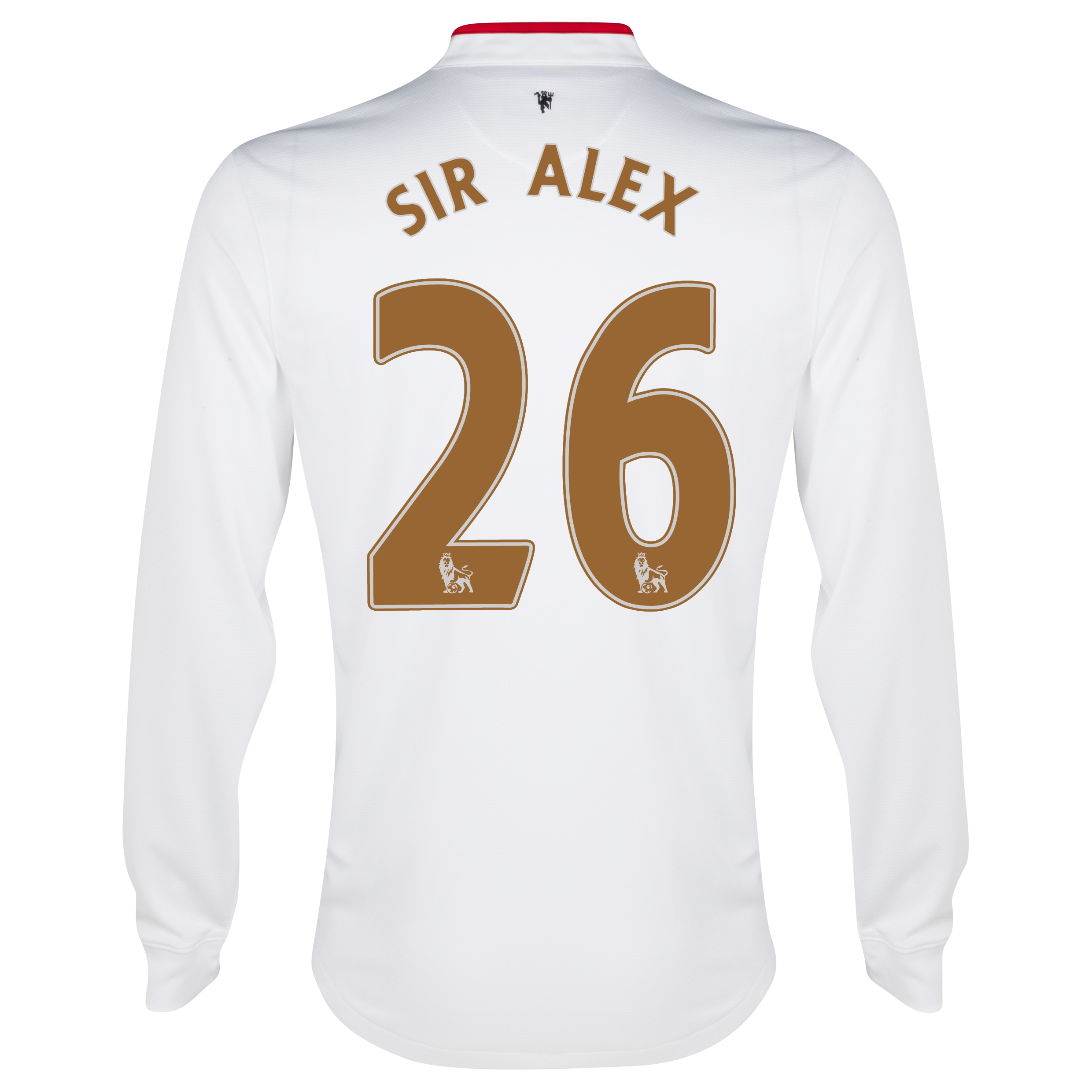 Manchester United Away Shirt 2012/13 - Long Sleeved - Kids with Sir Alex 26 printing