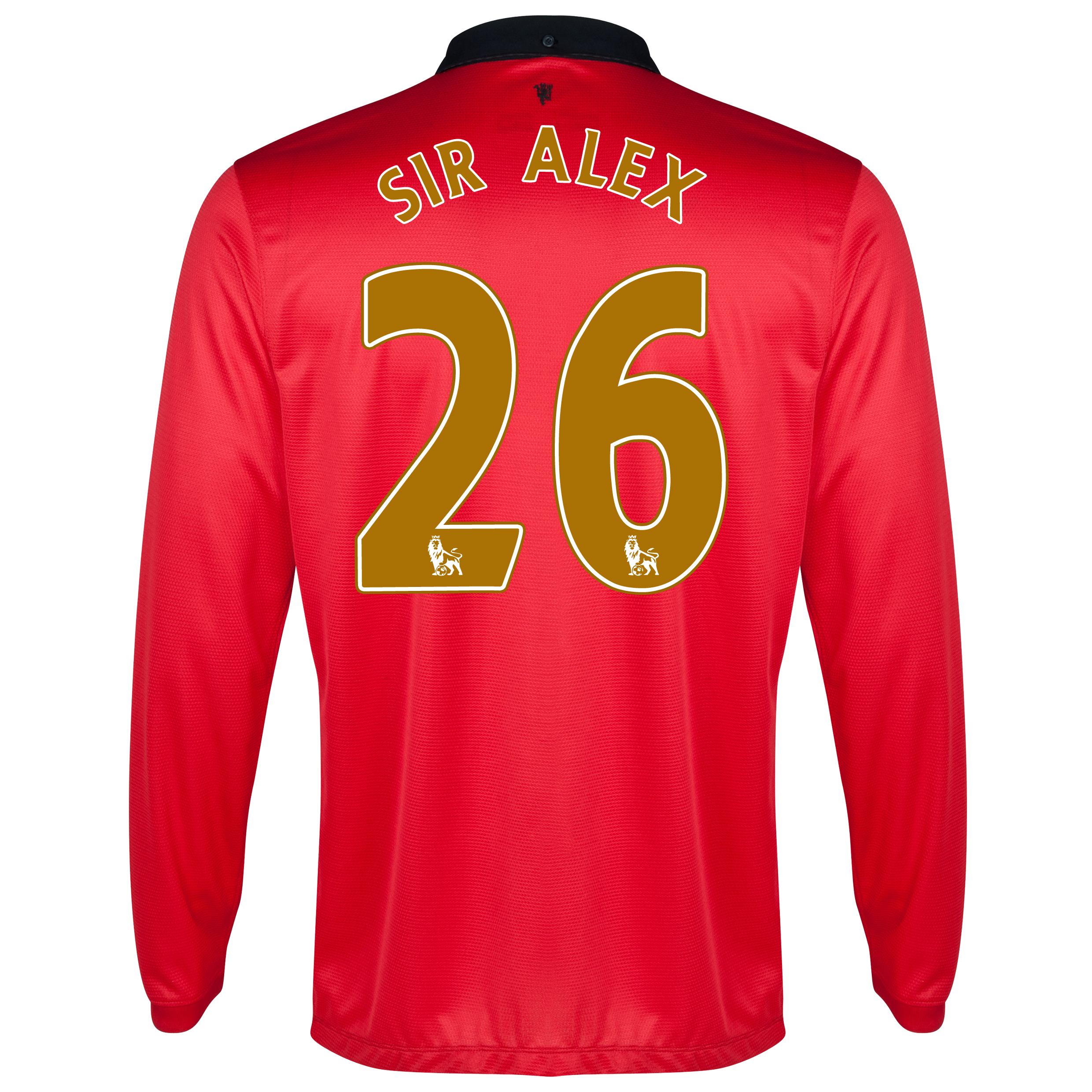 Manchester United Home Shirt 2013/14 - Long Sleeved - Kids with Sir Alex 26 printing
