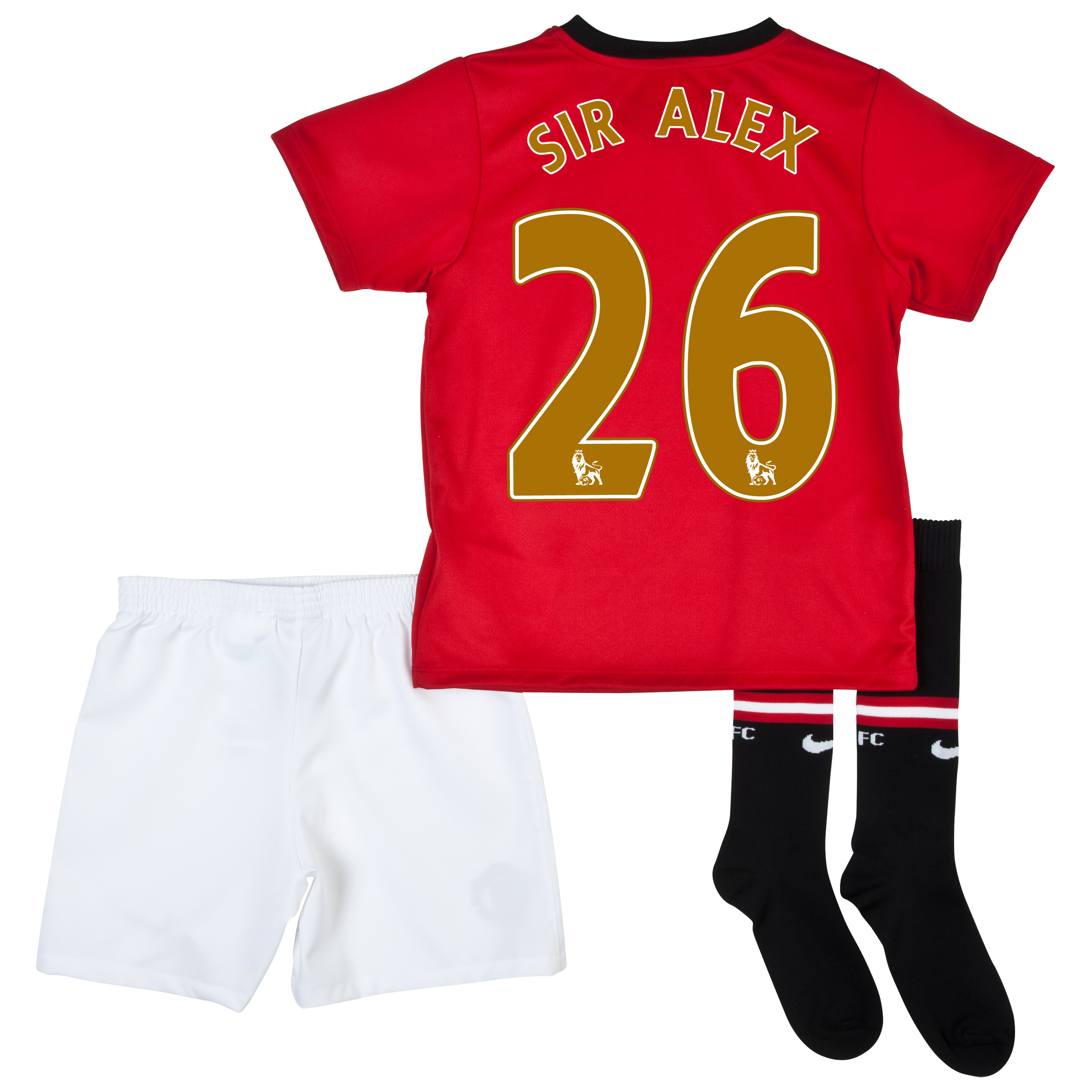 Manchester United Home Kit 2013/14 - Little Boys with Sir Alex 26 printing