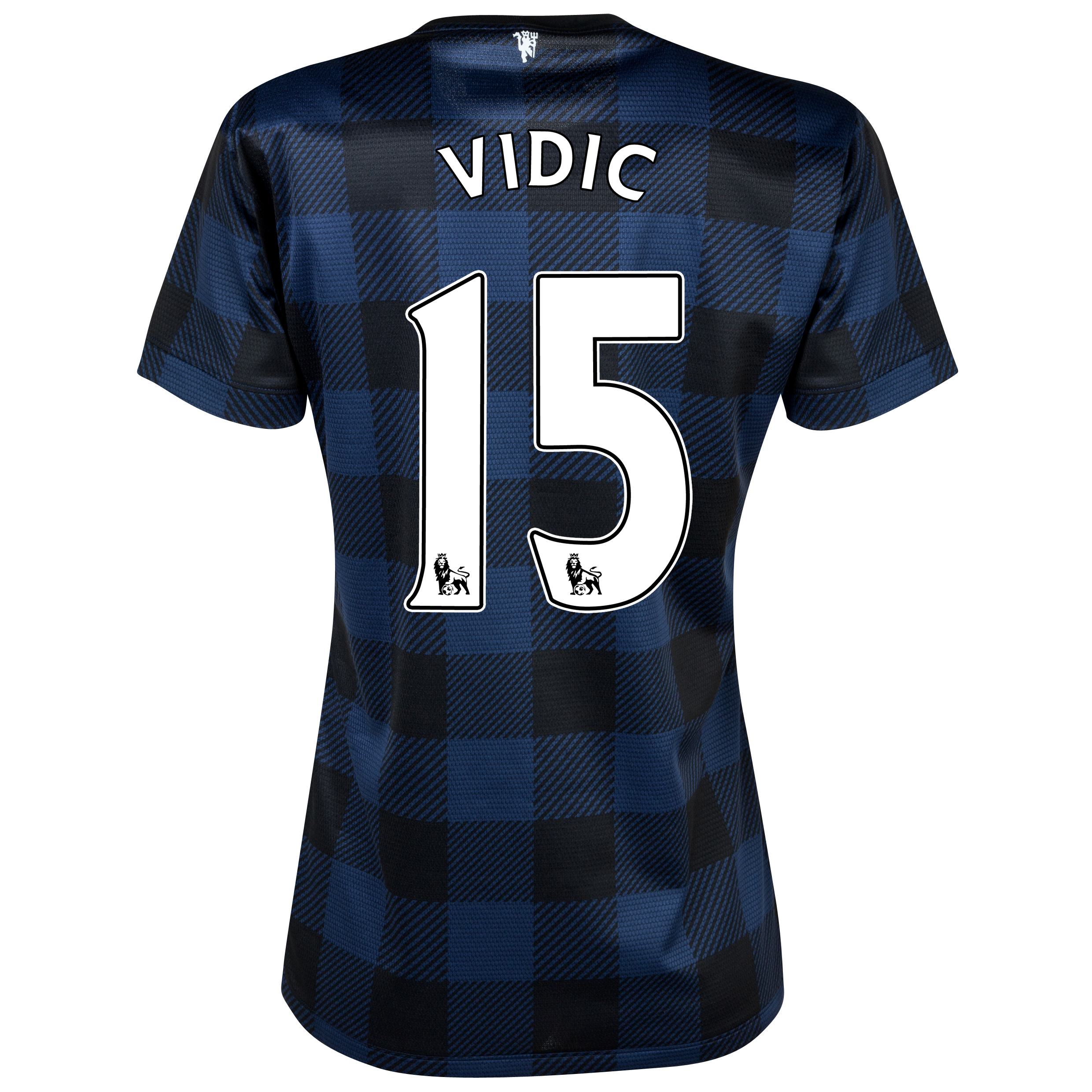 Manchester United Away Shirt 2013/14 - Womens with Vidic 15 printing