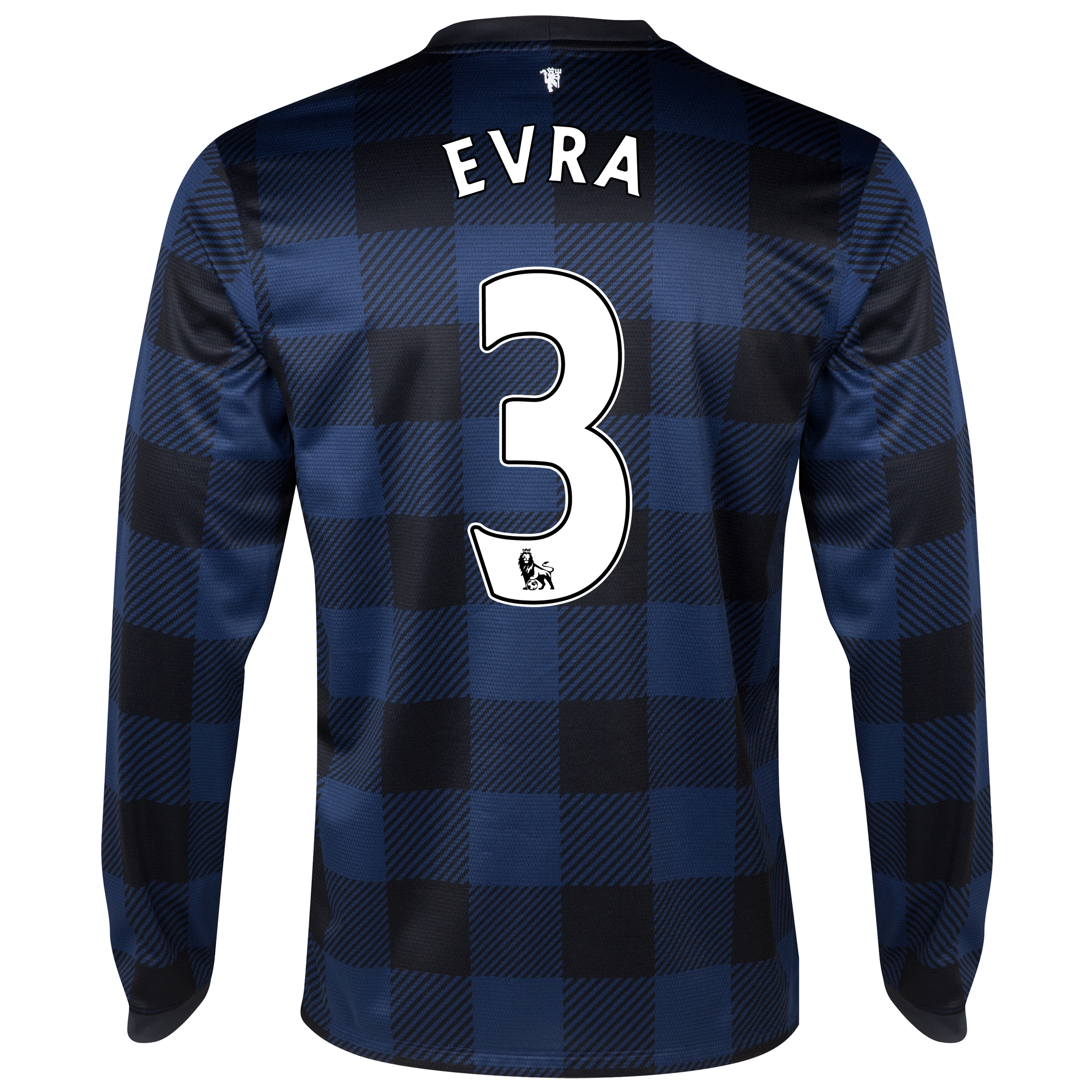 Manchester United Away Shirt 2013/14 - Long Sleeved with Evra 3 printing