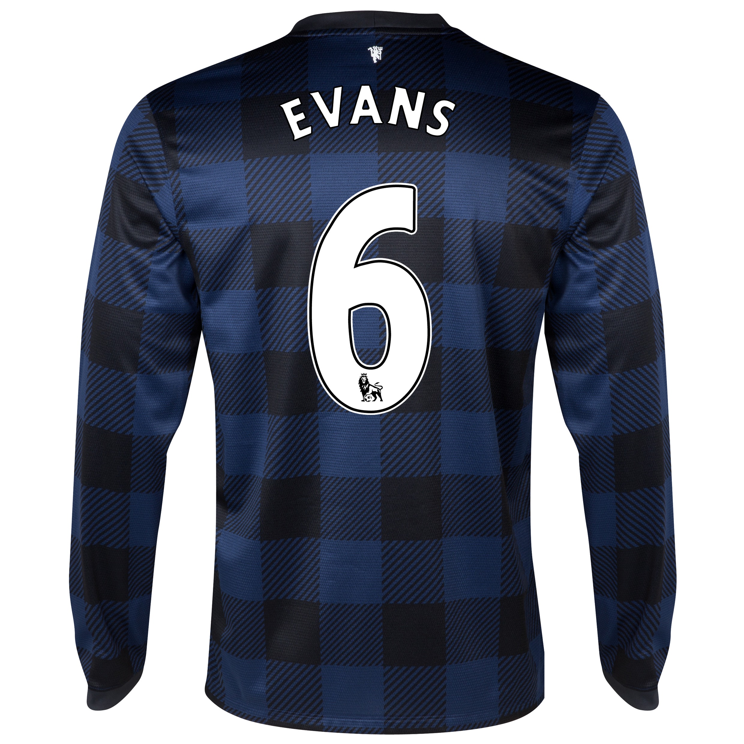 Manchester United Away Shirt 2013/14 - Long Sleeved with Evans 6 printing
