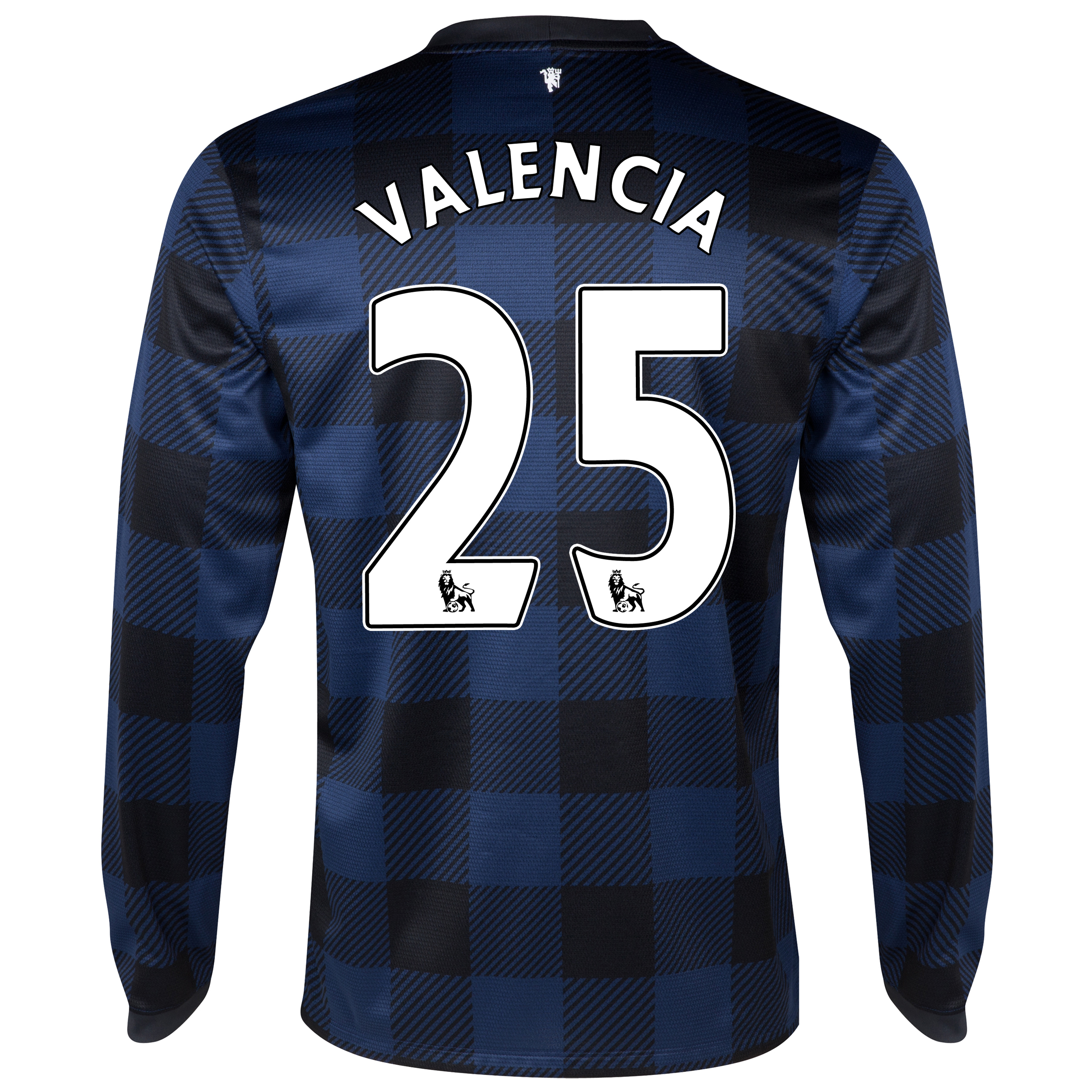 Manchester United Away Shirt 2013/14 - Long Sleeved with Valencia 25 printing